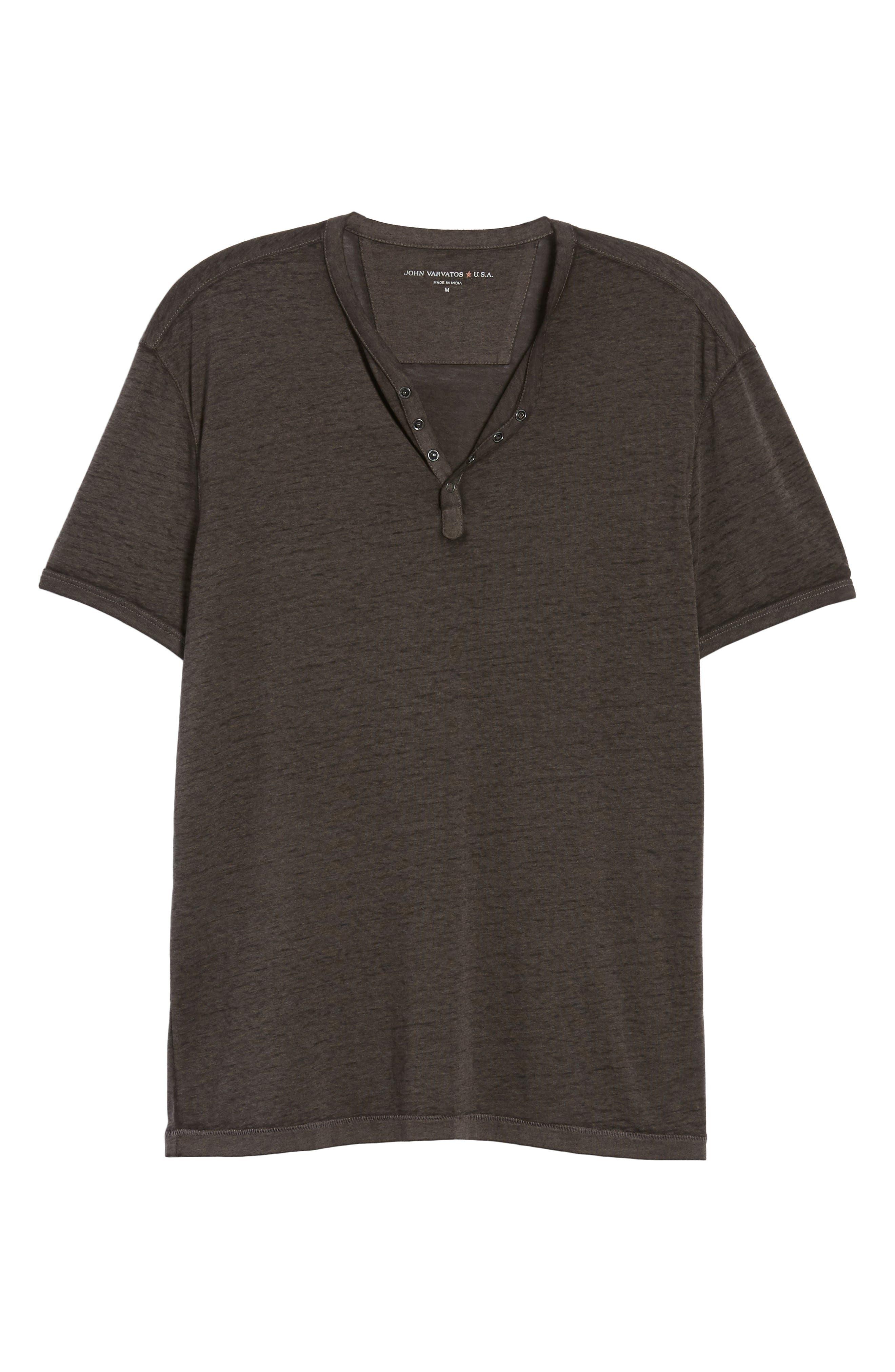 Burnout Henley T-Shirt,                             Alternate thumbnail 6, color,                             020