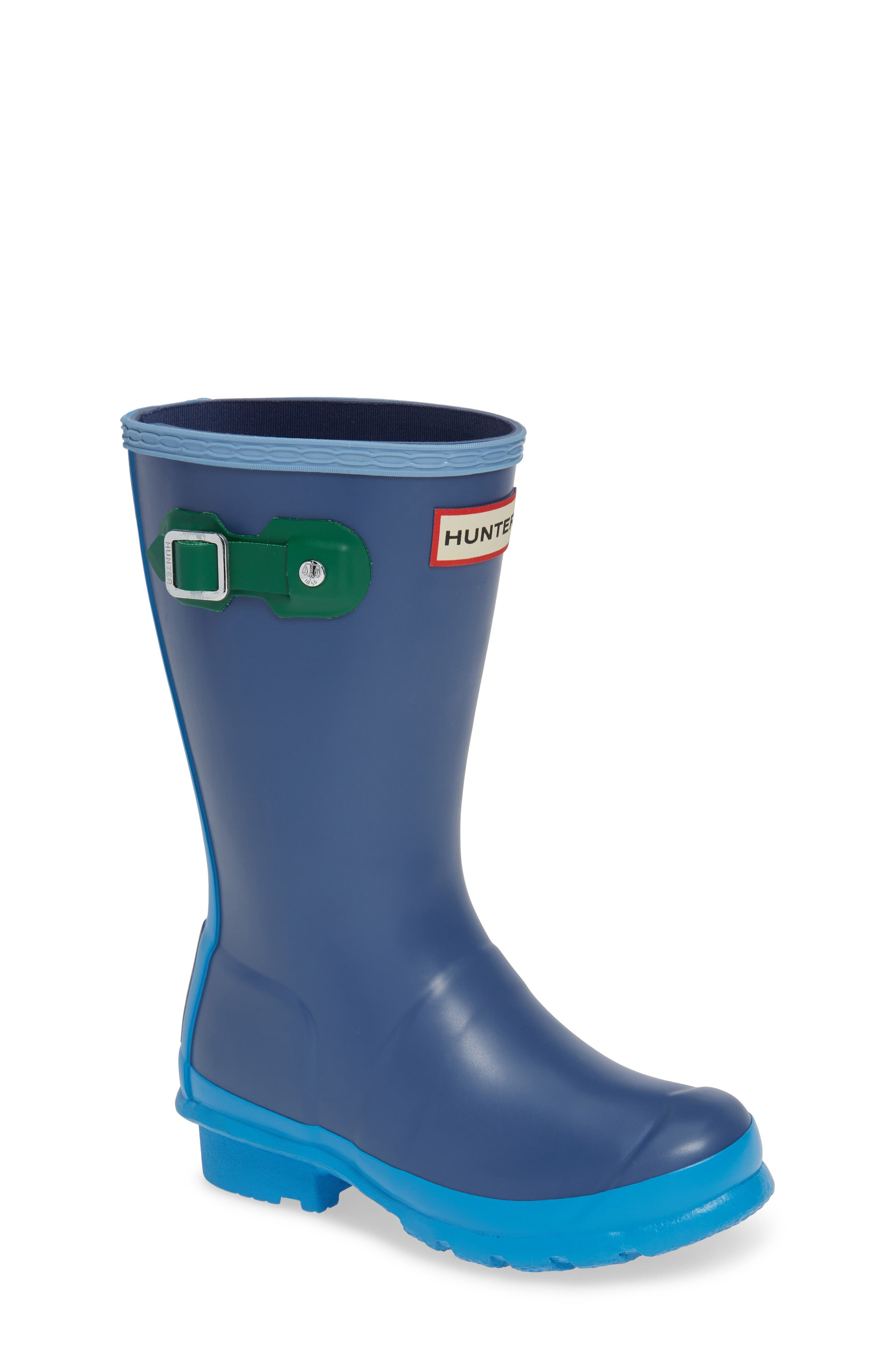 Original Colorblock Rain Boot,                             Main thumbnail 1, color,                             PEAK BLUE COLORBLOCK