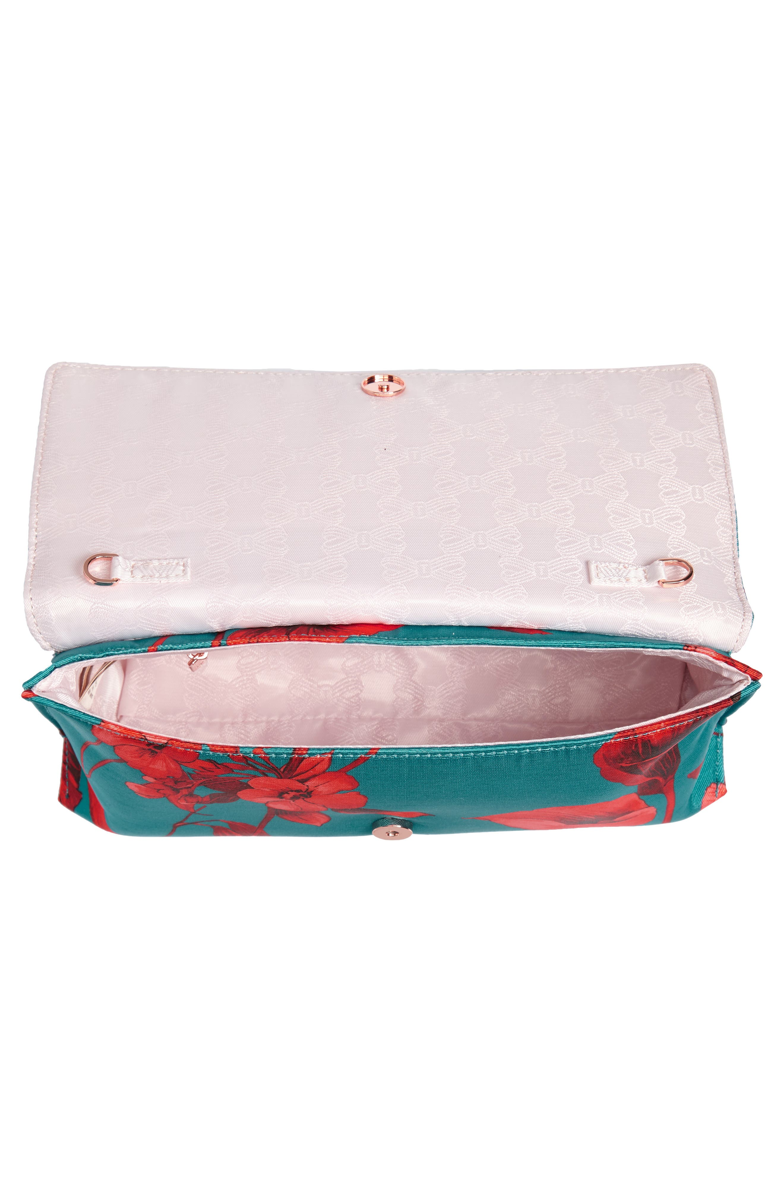 Darlee Fantasia Tassel Bag,                             Alternate thumbnail 5, color,                             TURQUOISE