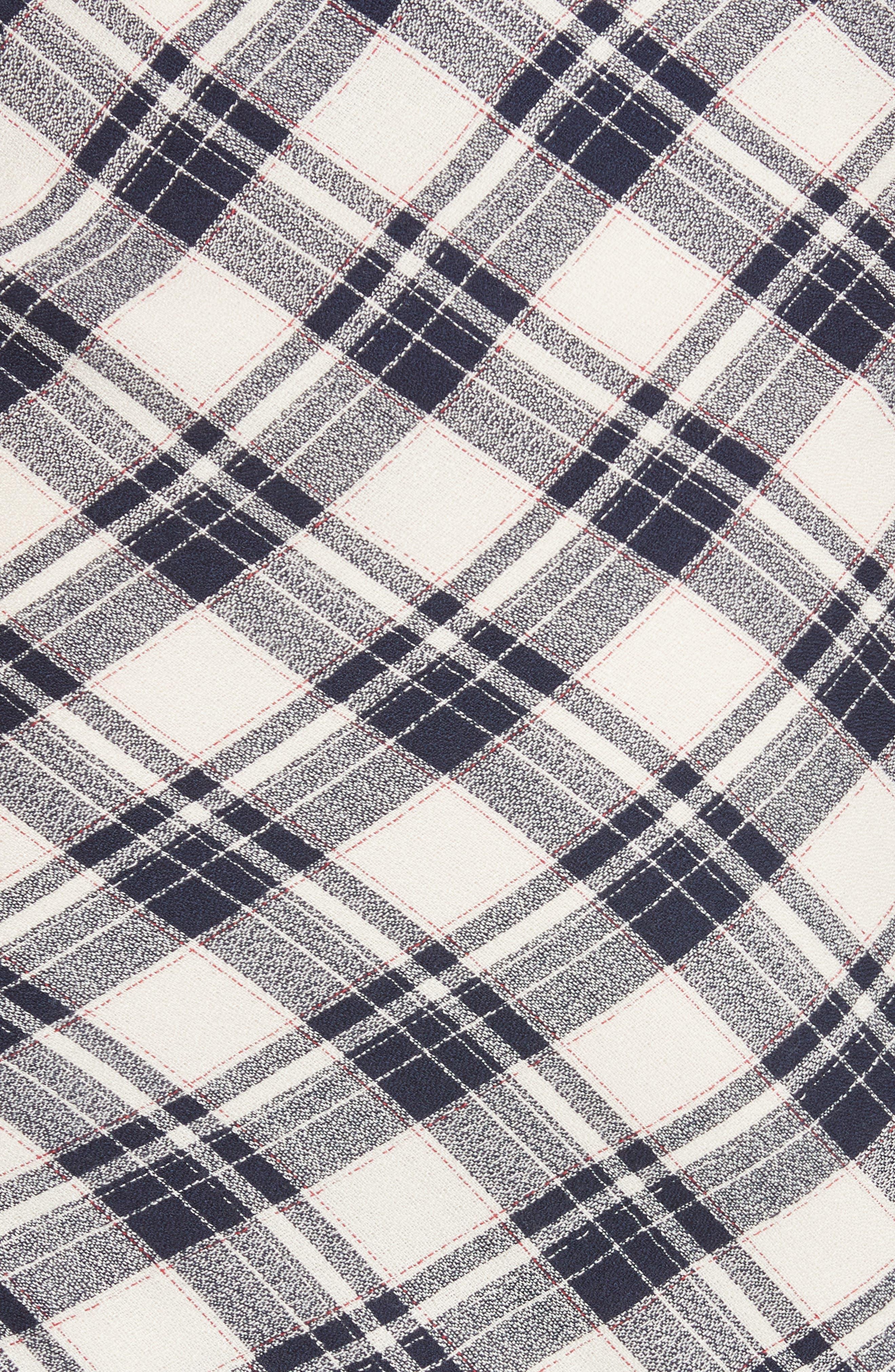 Murphy Ruched Miniskirt,                             Alternate thumbnail 5, color,                             NAVY/ ECRU