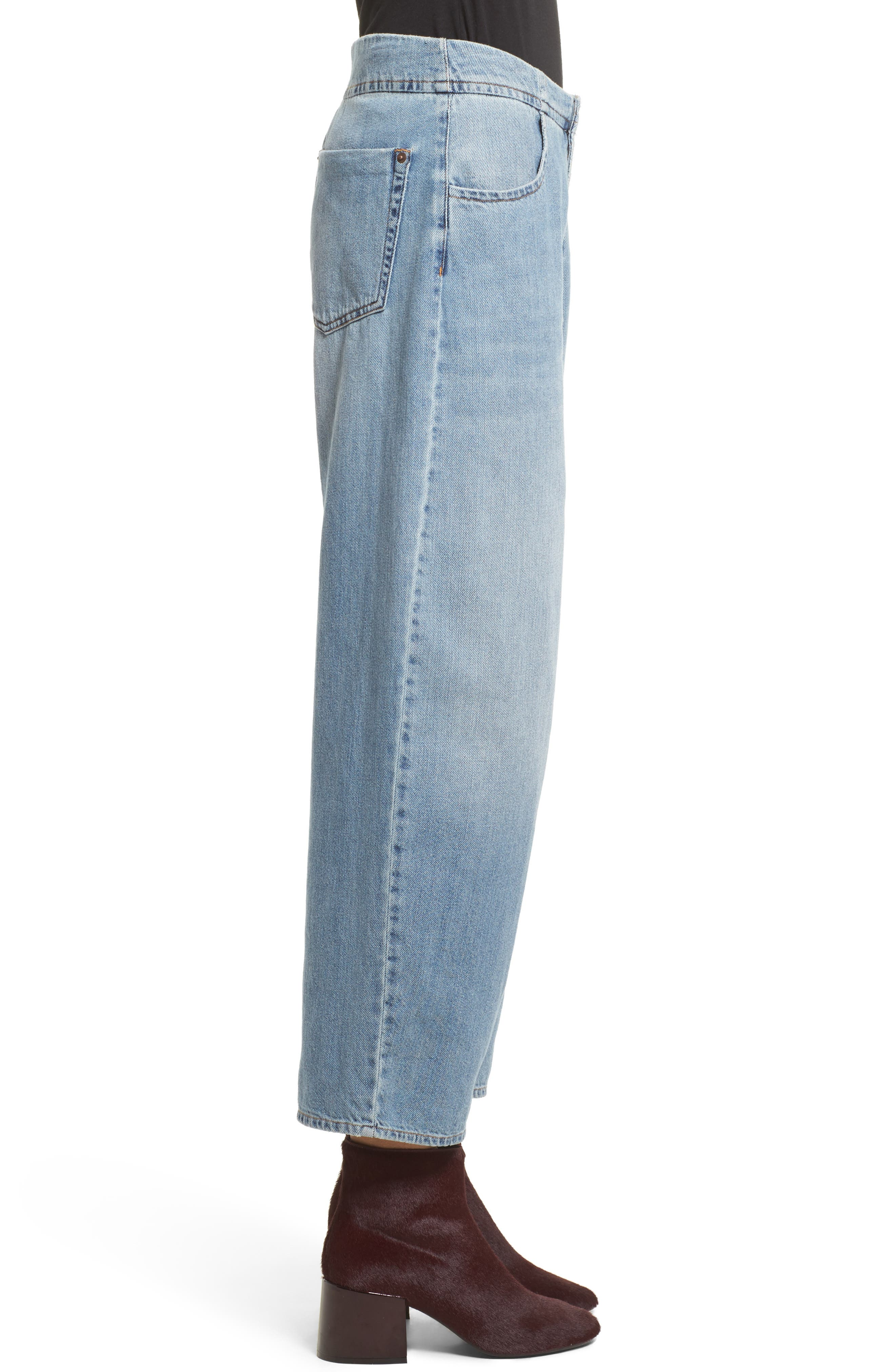 Relaxed Fit Crop Jeans,                             Alternate thumbnail 3, color,                             494
