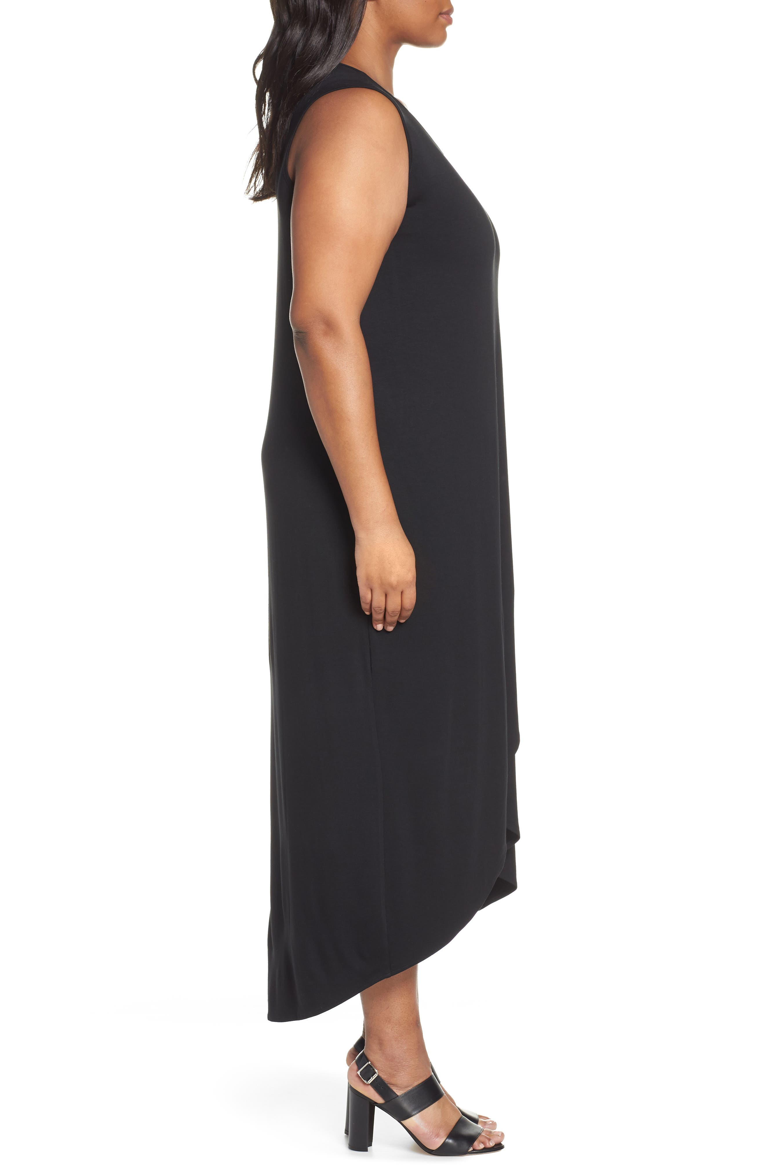 Ease Maxi Dress,                             Alternate thumbnail 3, color,                             BLACK ONYX