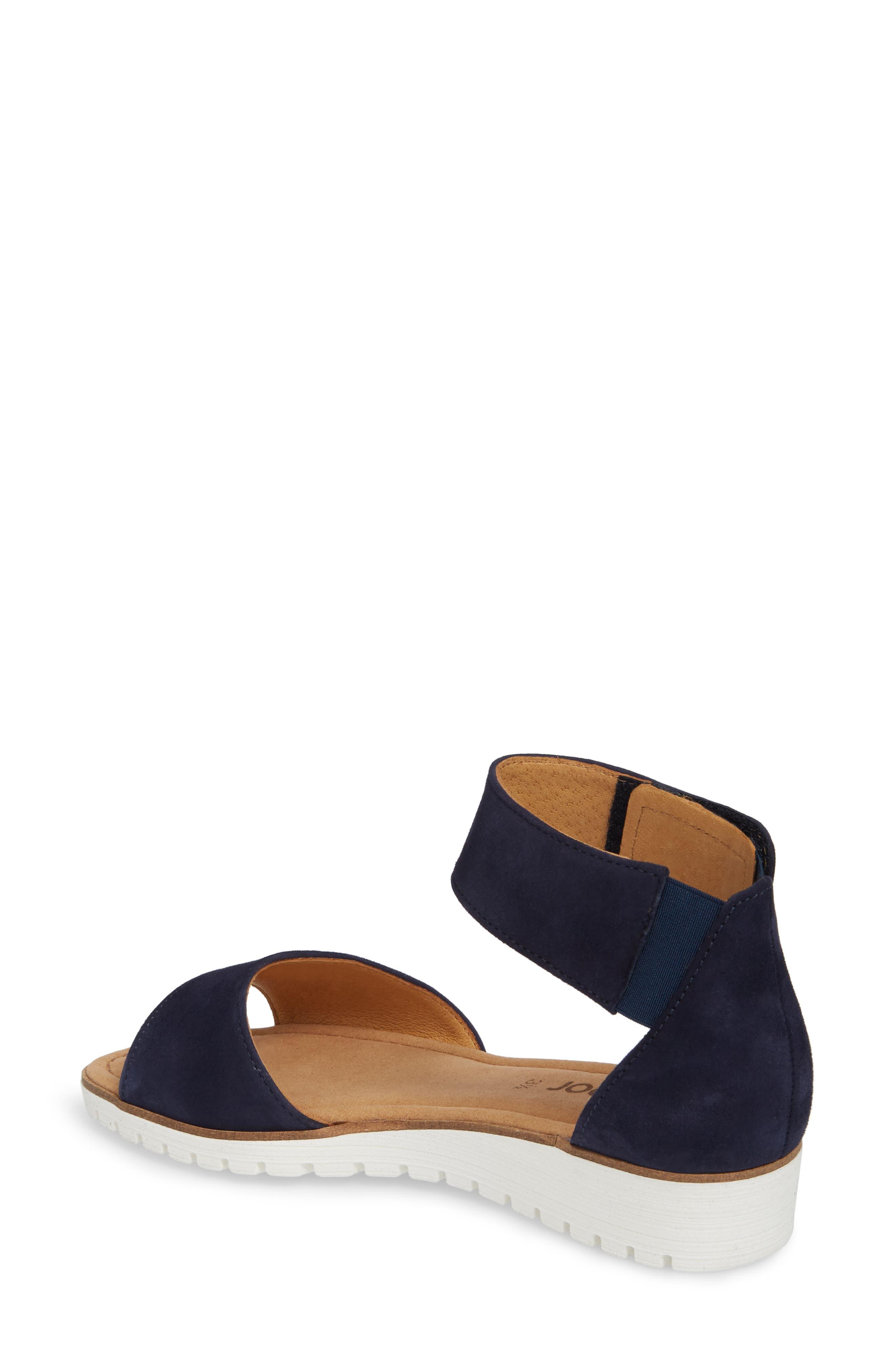 Ankle Strap Sandal,                             Alternate thumbnail 2, color,                             BLUE SUEDE