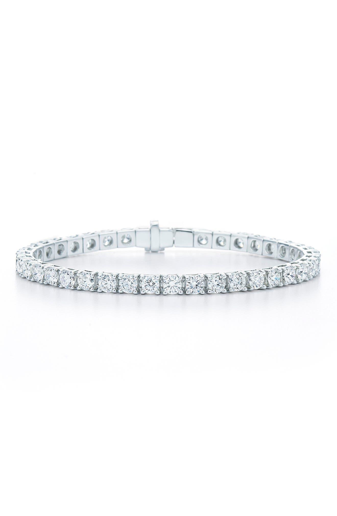 Riviera Diamond Line Bracelet,                             Main thumbnail 1, color,                             WHITE GOLD