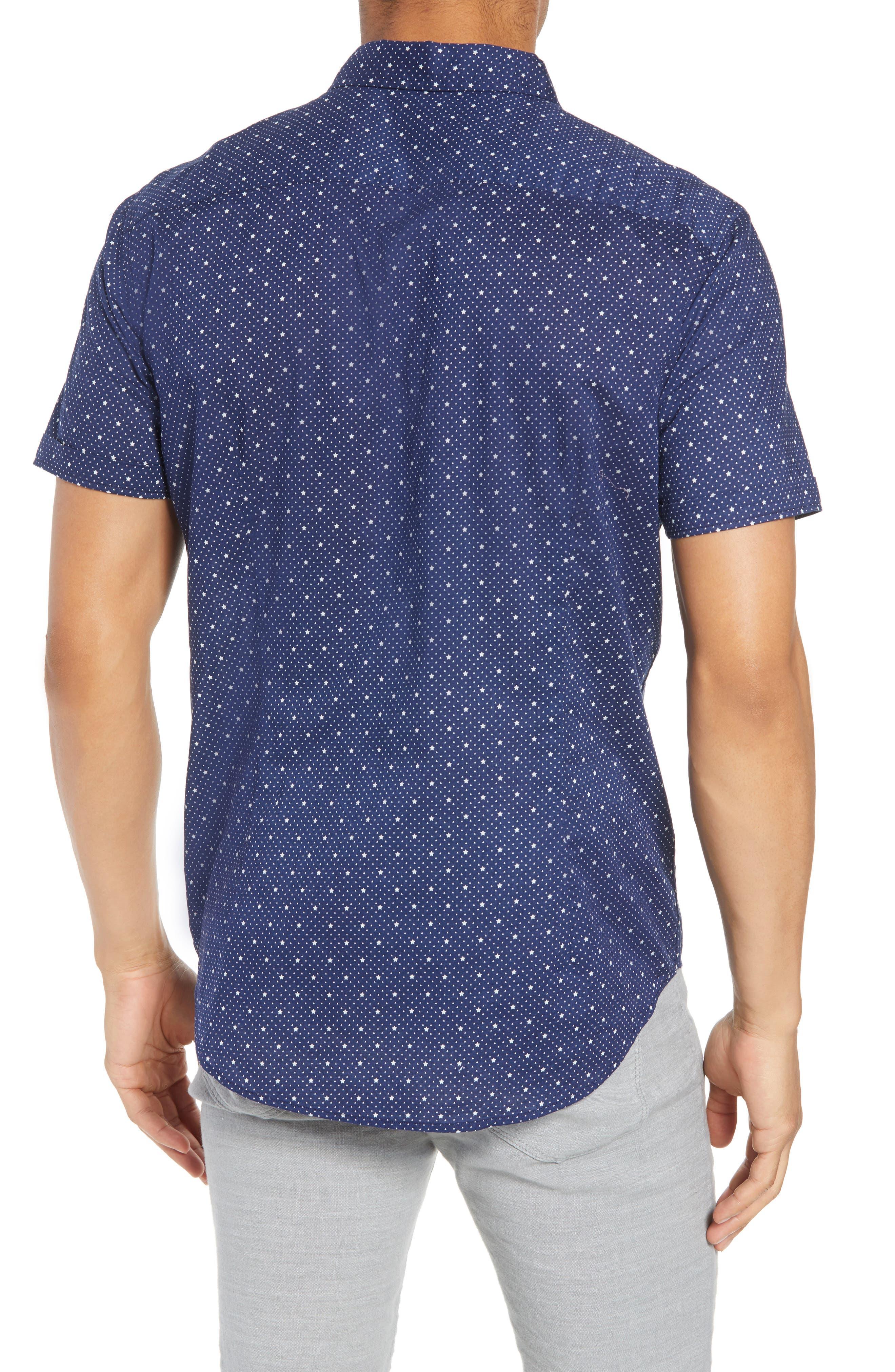 Star Print Woven Shirt,                             Alternate thumbnail 2, color,                             418