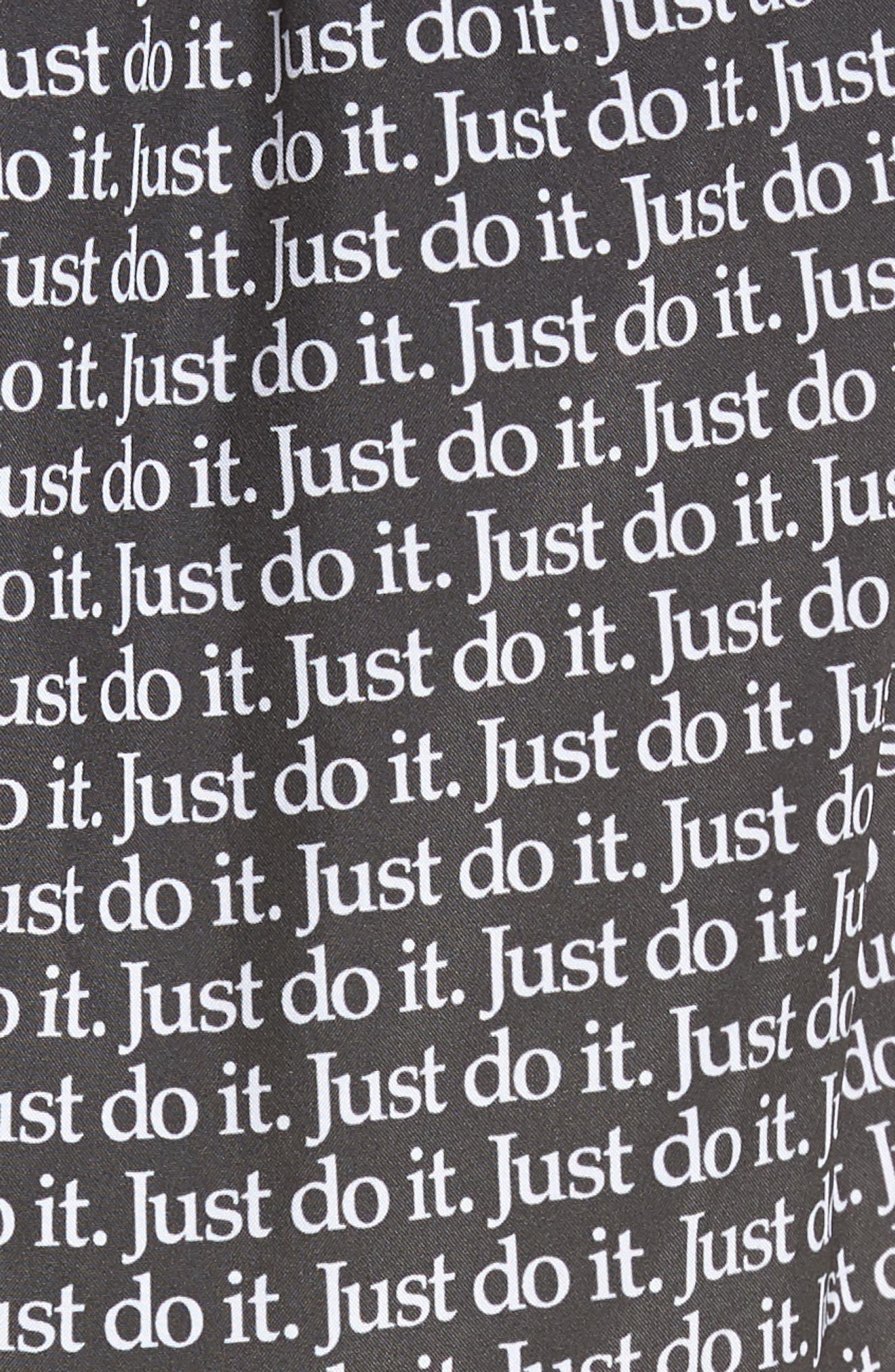 Dry Tempo Just Do It Running Shorts,                             Alternate thumbnail 6, color,                             BLACK/ WHITE/ WHITE/ WOLF GREY