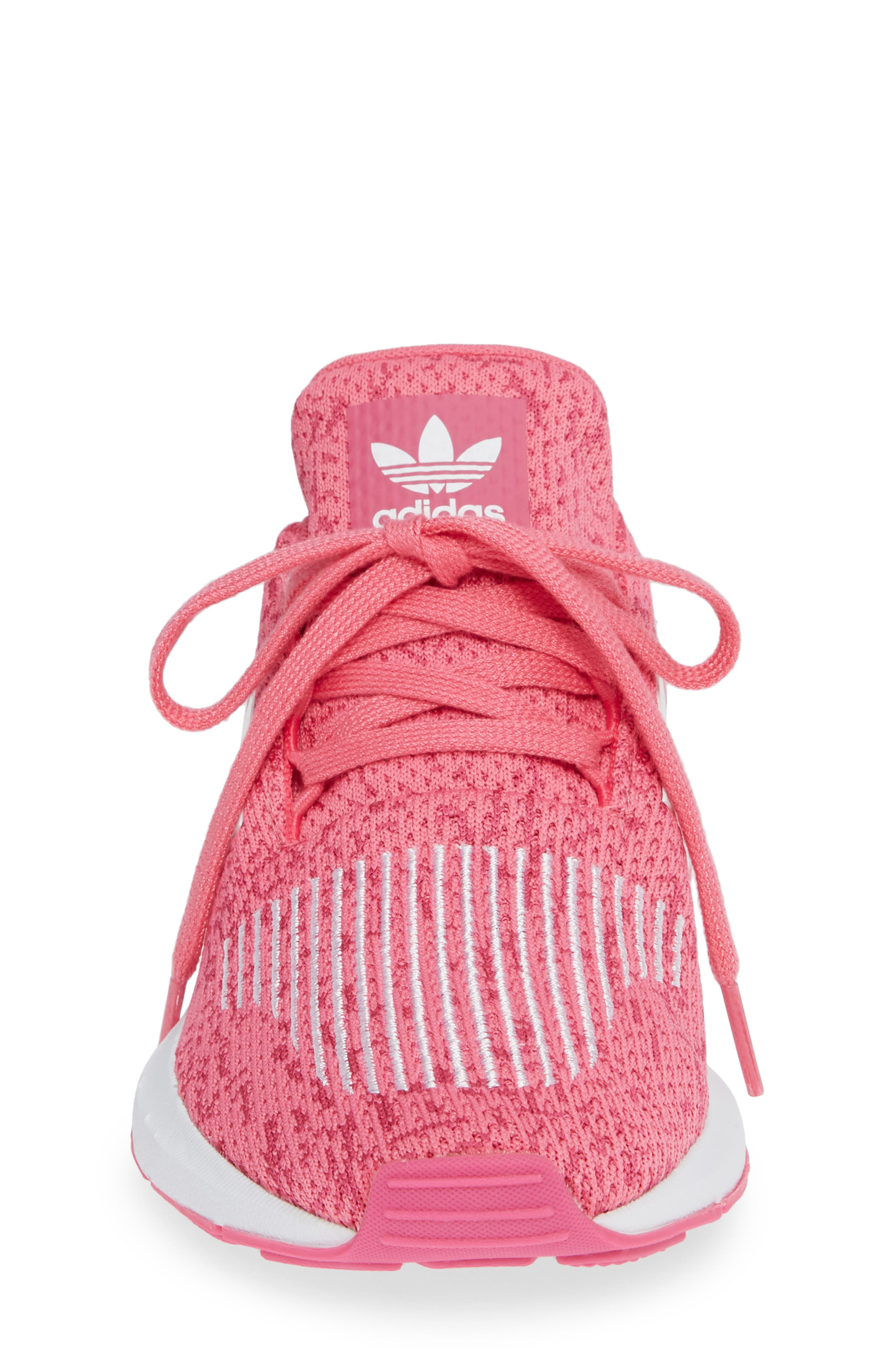 Swift Run J Sneaker,                             Alternate thumbnail 4, color,                             SEMI SOLAR PINK/ WHITE