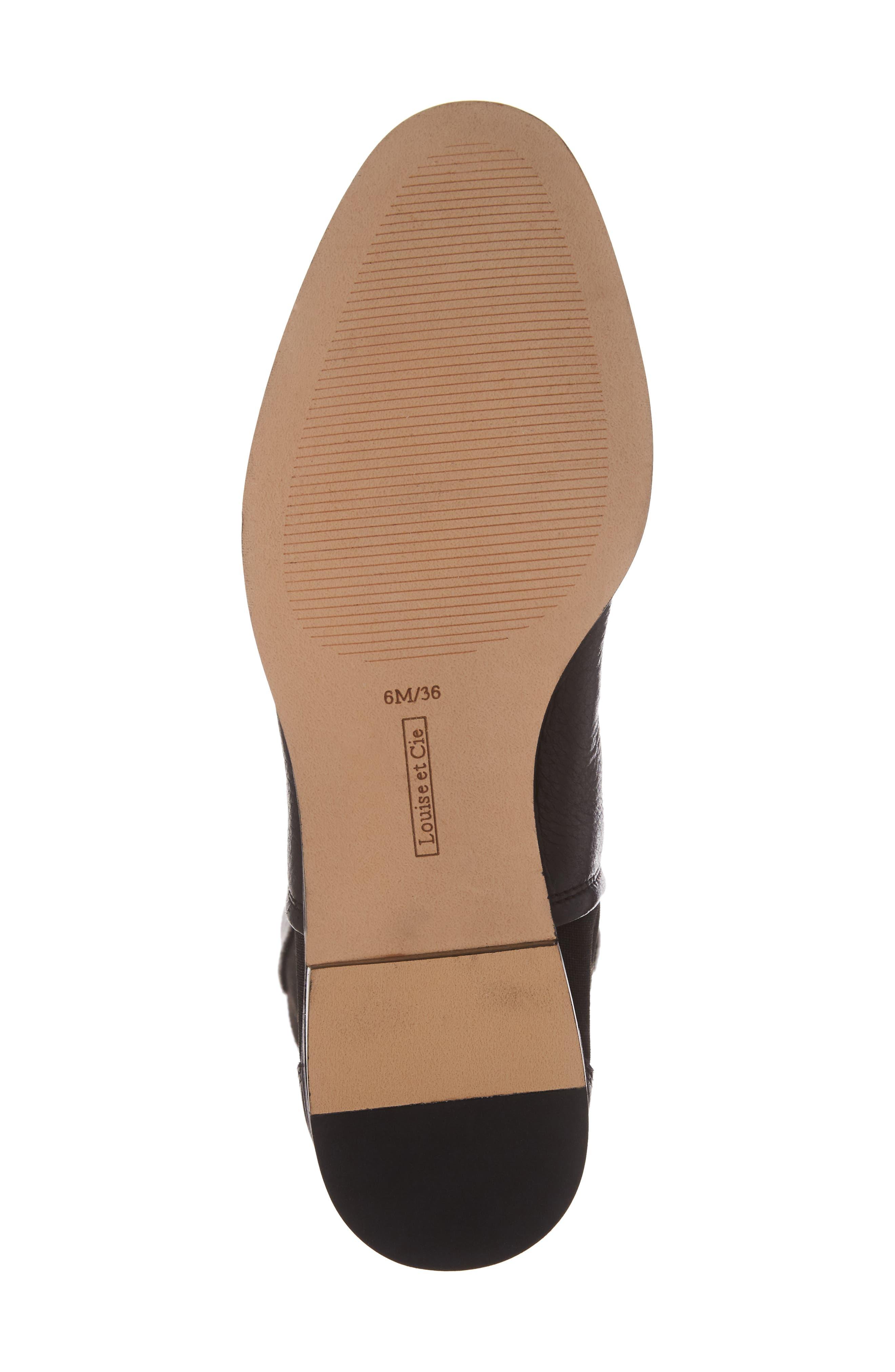 Vallery Elastic Back Knee High Boot,                             Alternate thumbnail 6, color,                             001