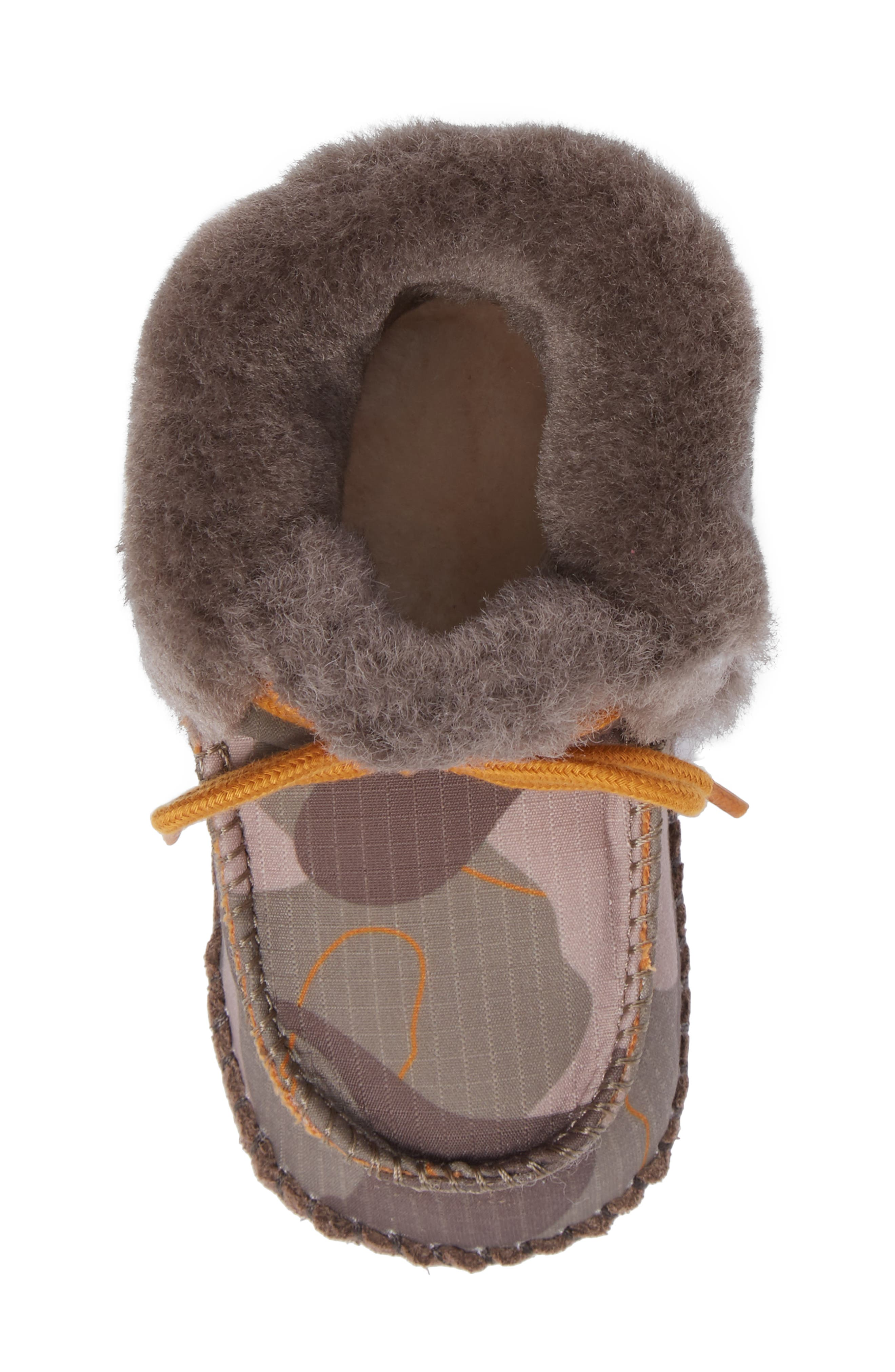 Sparrow Camo Genuine Shearling Moccasin Bootie,                             Alternate thumbnail 5, color,                             020