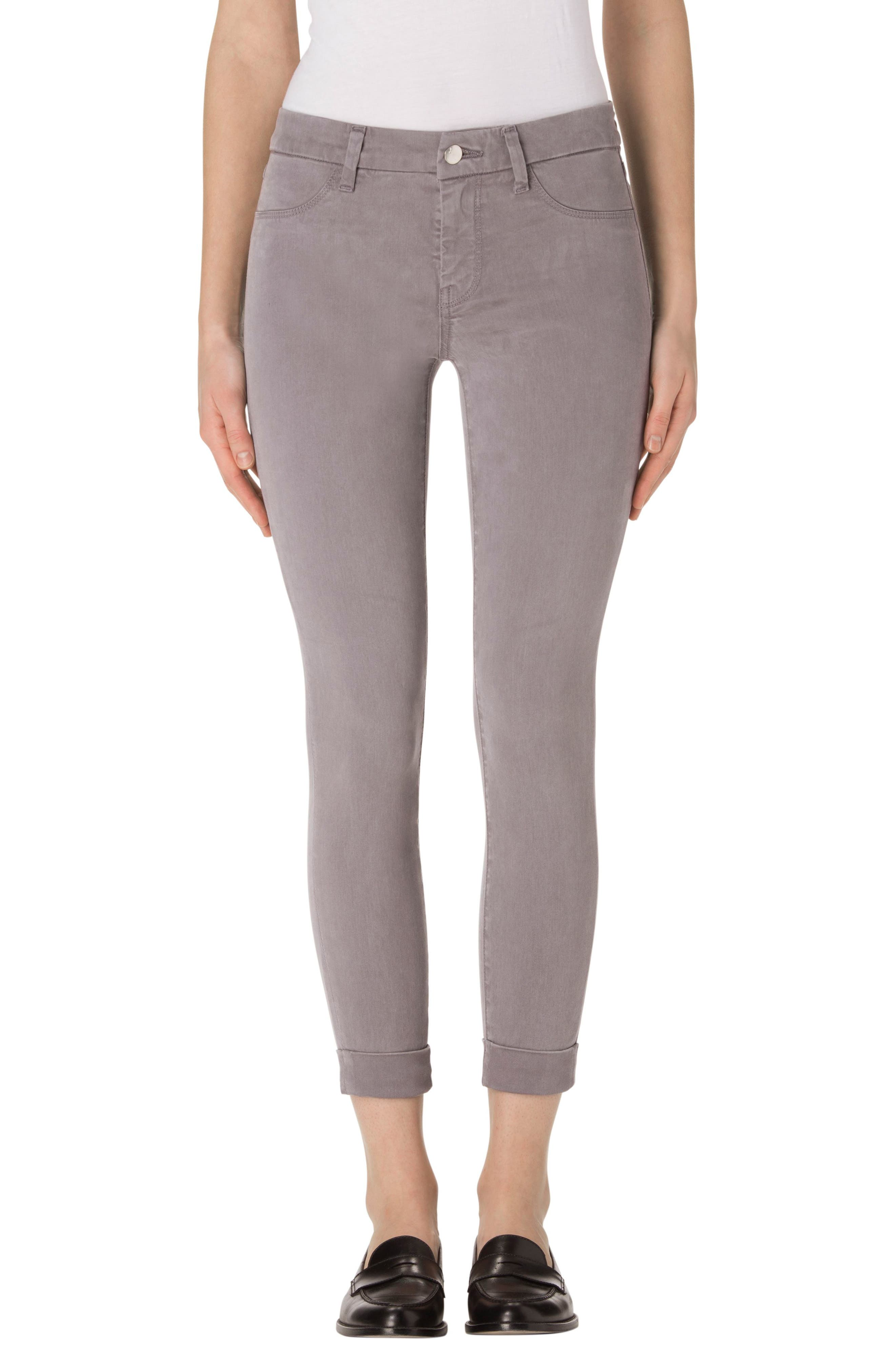 'Anja' Cuffed Crop Skinny Jeans,                             Main thumbnail 1, color,                             021