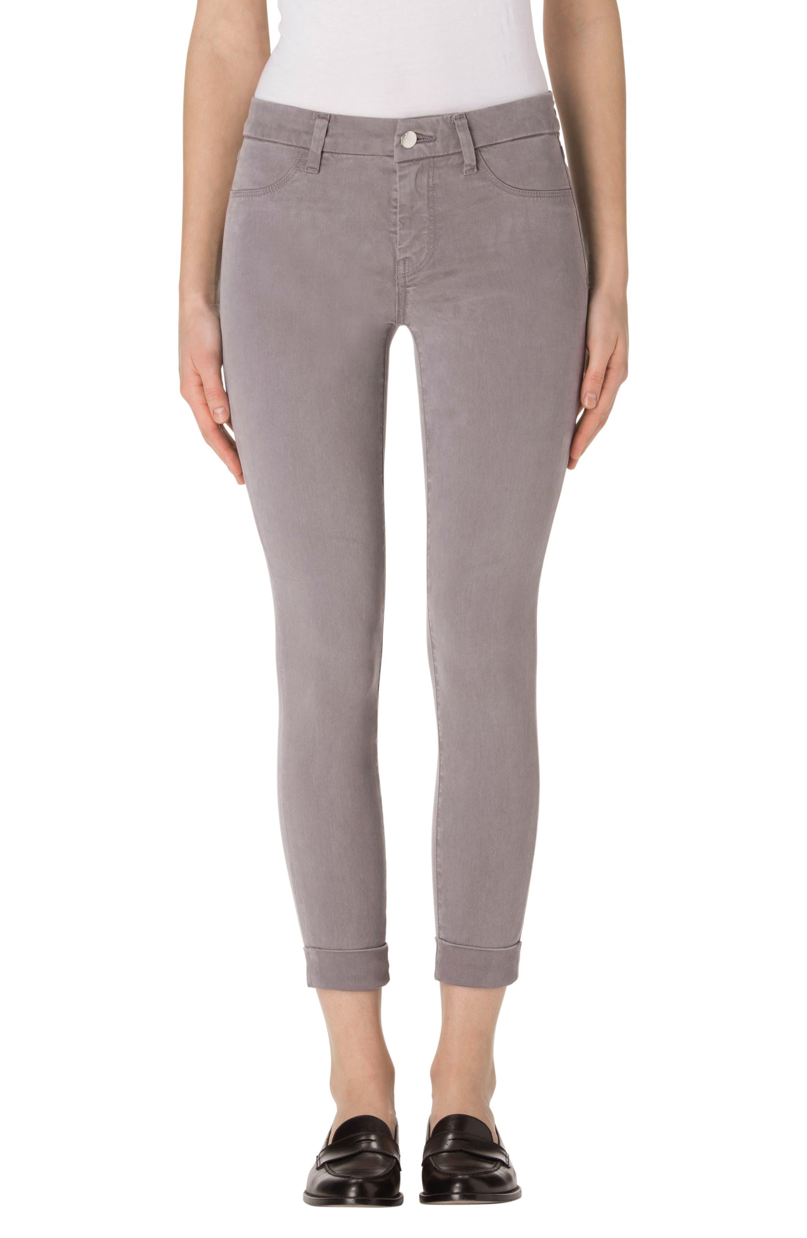 'Anja' Cuffed Crop Skinny Jeans,                         Main,                         color,