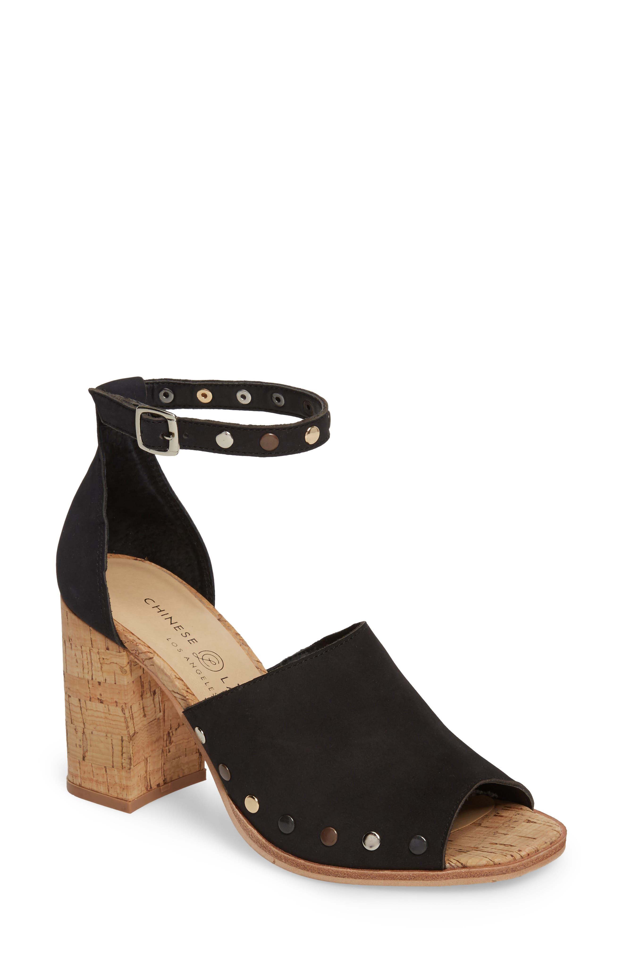 Savana Sandal,                         Main,                         color, BLACK