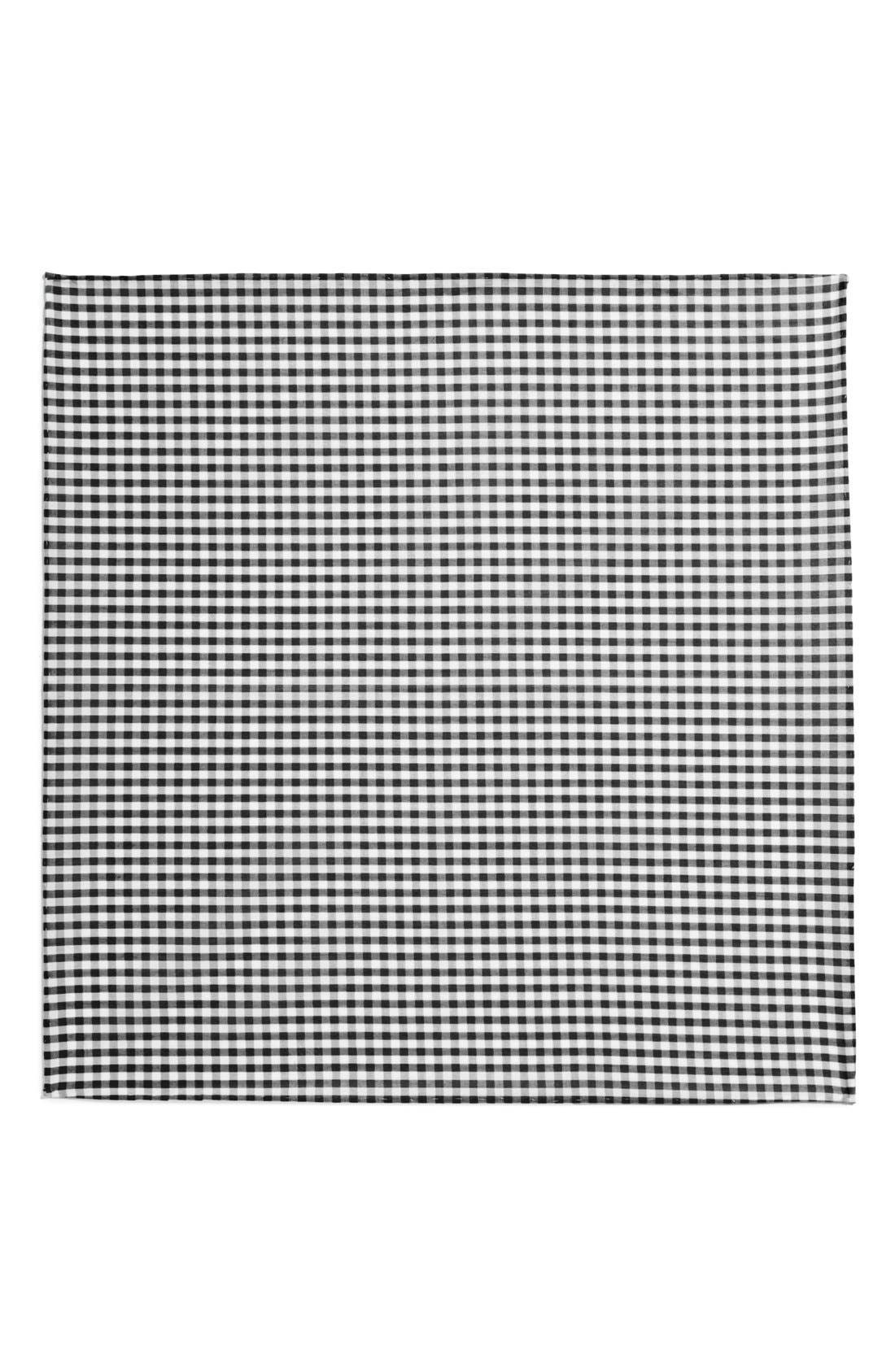Cotton Gingham Pocket Square,                             Alternate thumbnail 6, color,