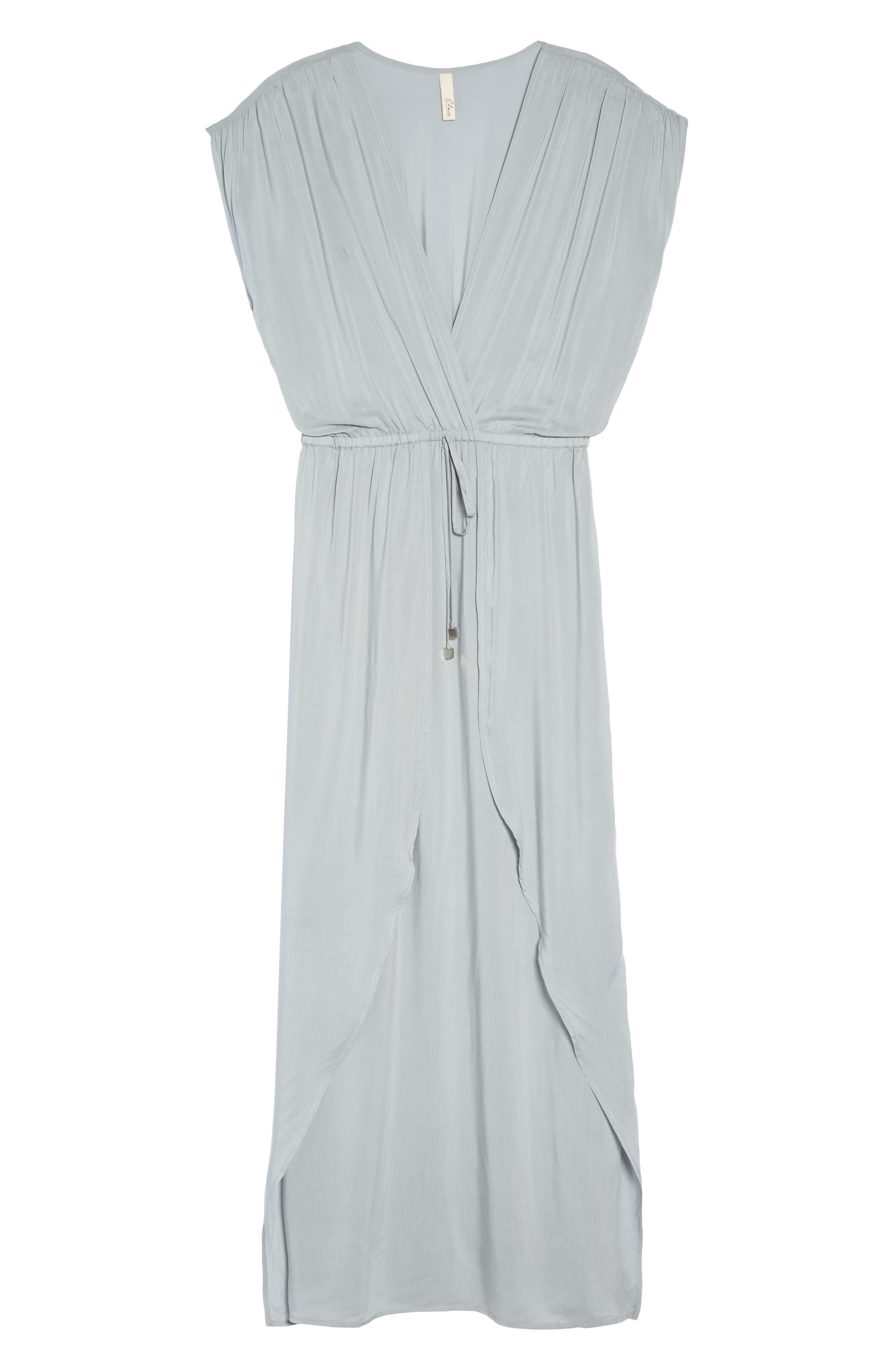 Wrap Maxi Cover-Up Dress,                             Alternate thumbnail 12, color,