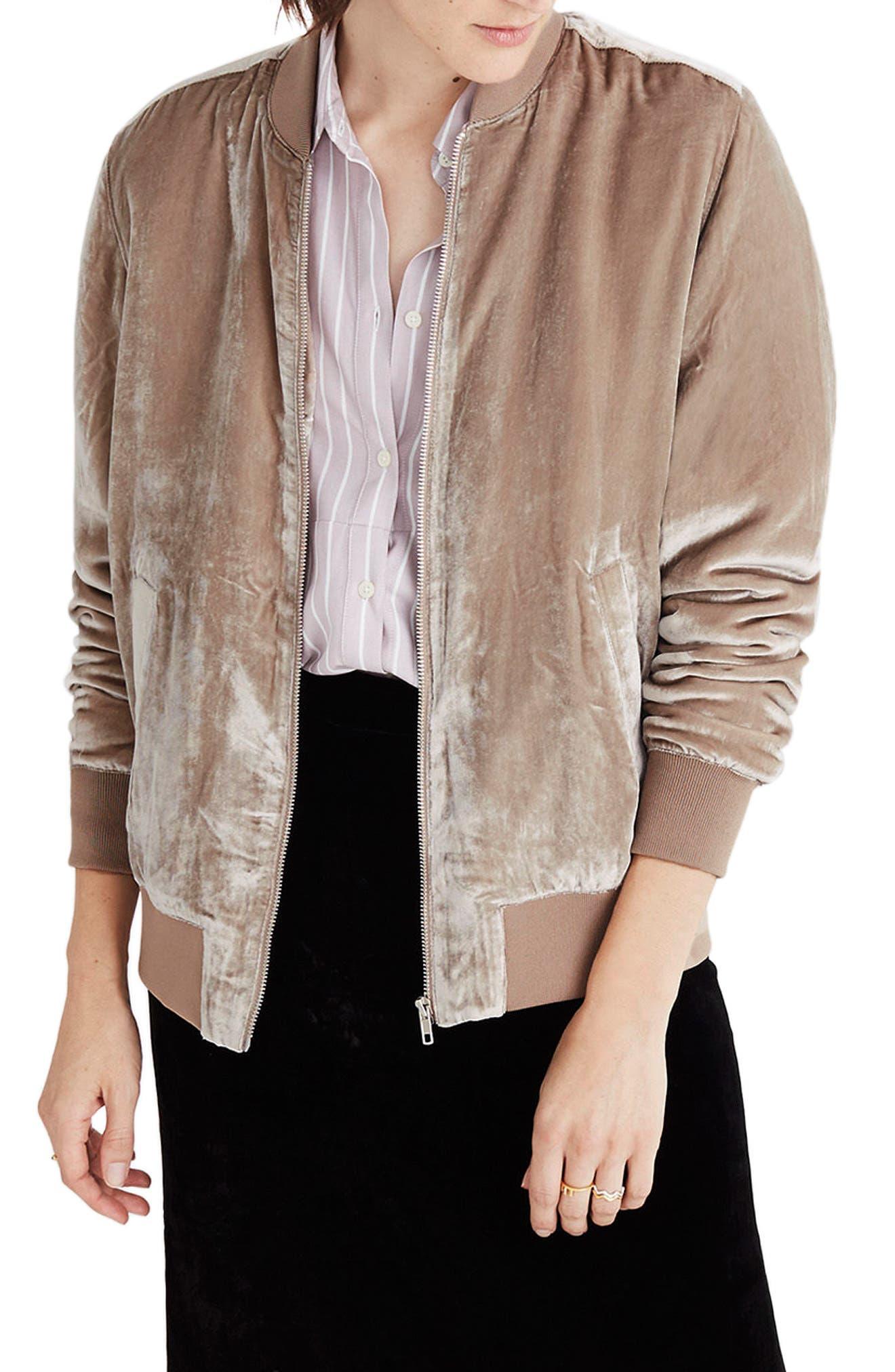 Velvet Bomber Jacket,                         Main,                         color, 250