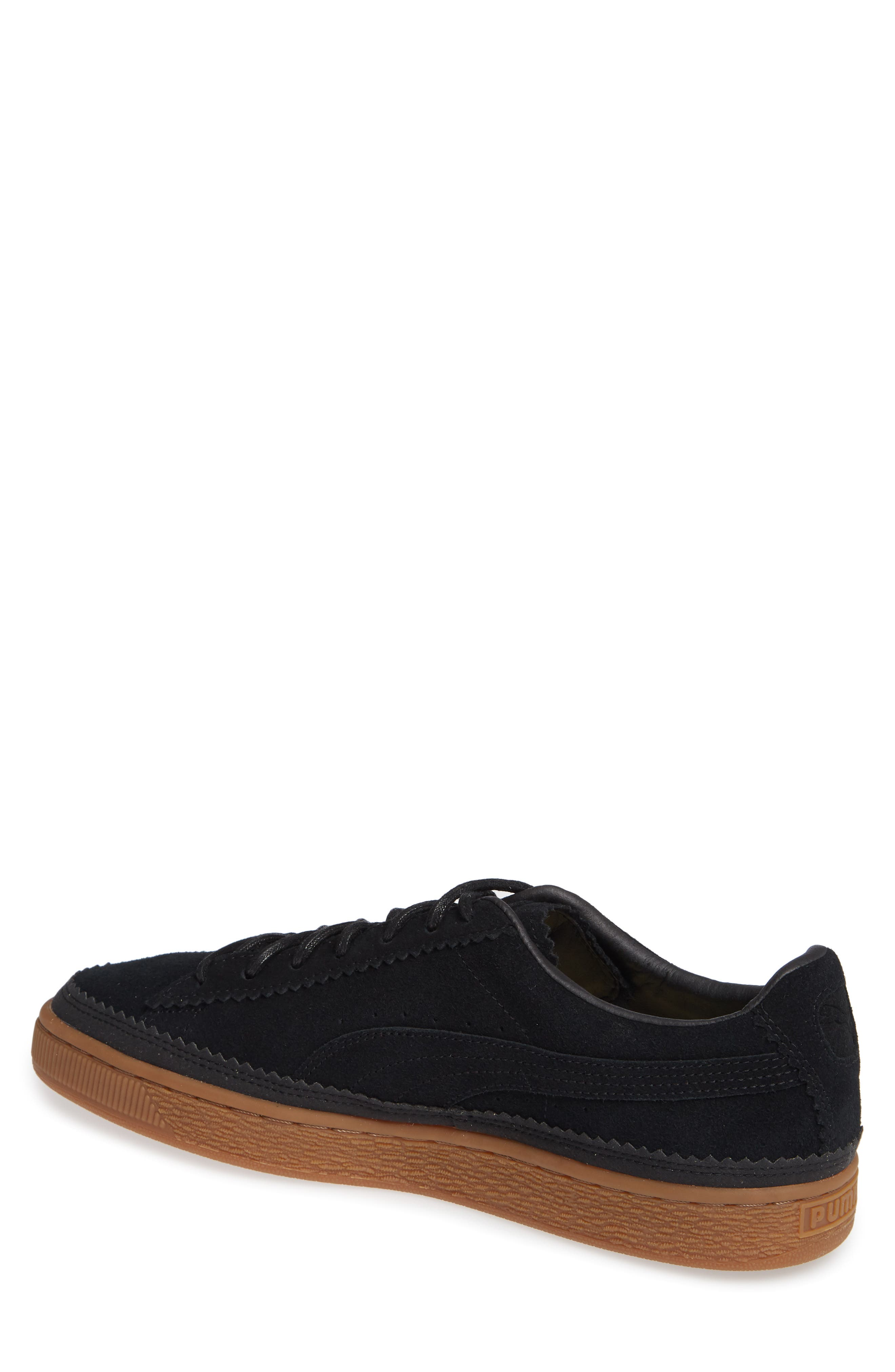 Suede Sneaker,                             Alternate thumbnail 2, color,                             BLACK/ BLACK