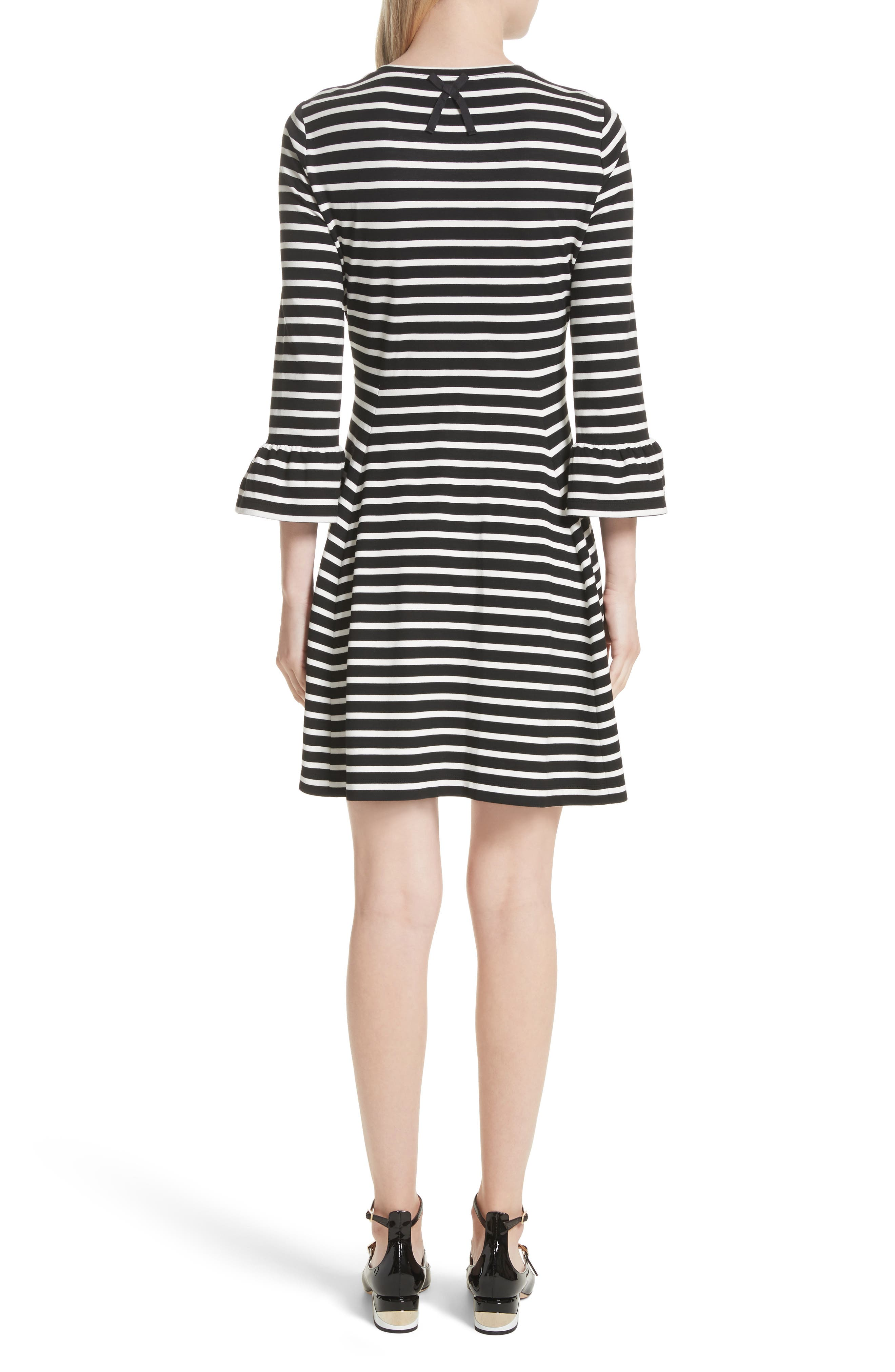 stripe fit-and-flare dress,                             Alternate thumbnail 2, color,                             903