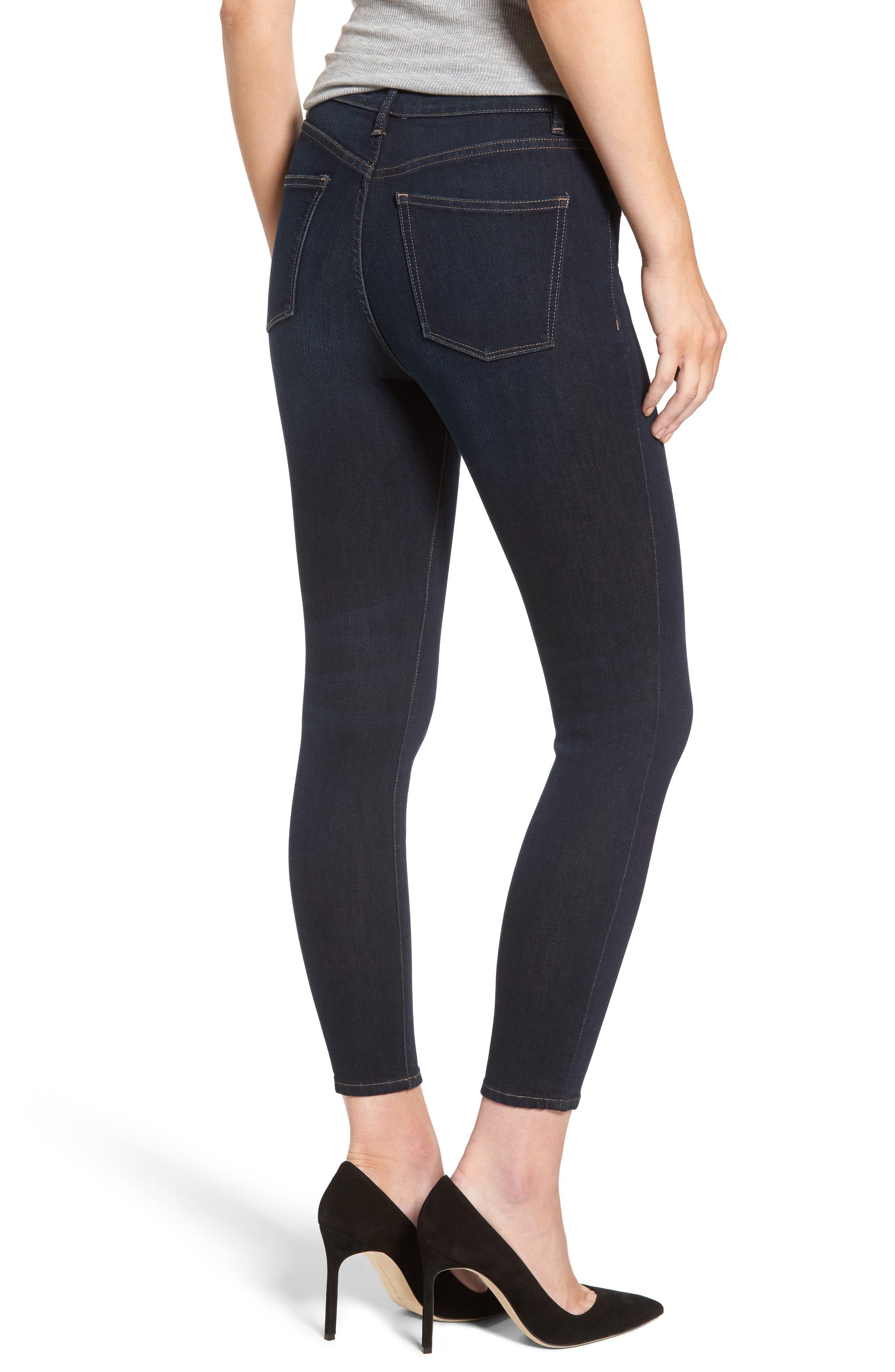 Chrissy High Waist Ankle Skinny Jeans,                             Alternate thumbnail 2, color,                             405