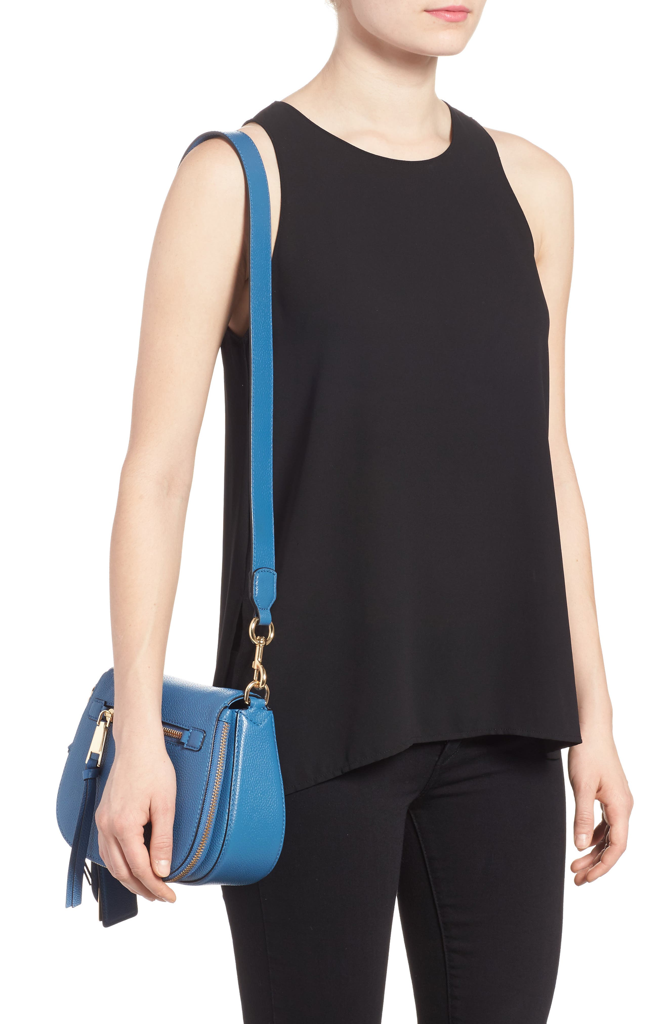 Small Recruit Nomad Pebbled Leather Crossbody Bag,                             Alternate thumbnail 15, color,