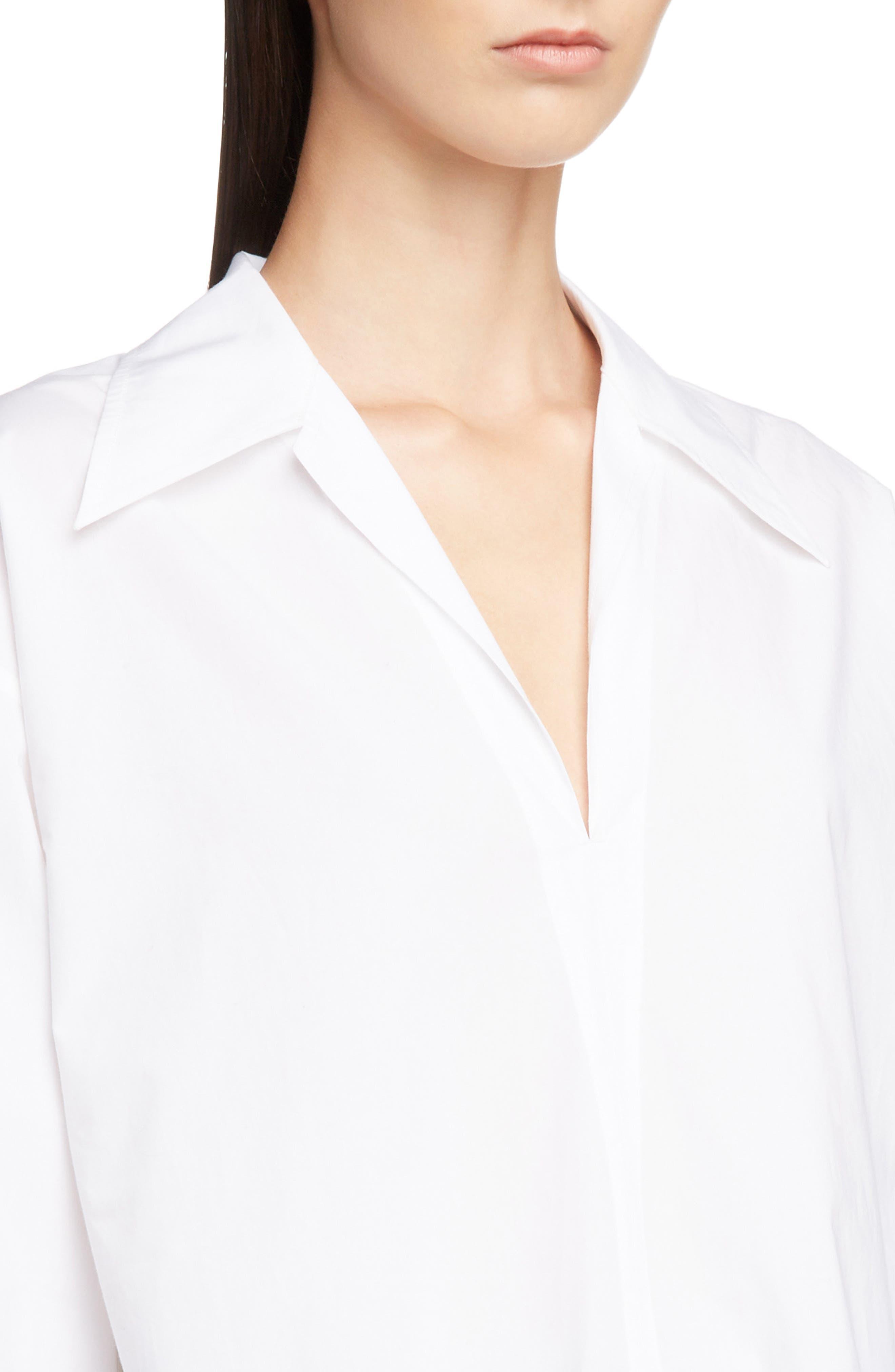 ACNE STUDIOS,                             Spread Collar Shirt,                             Alternate thumbnail 4, color,                             WHITE