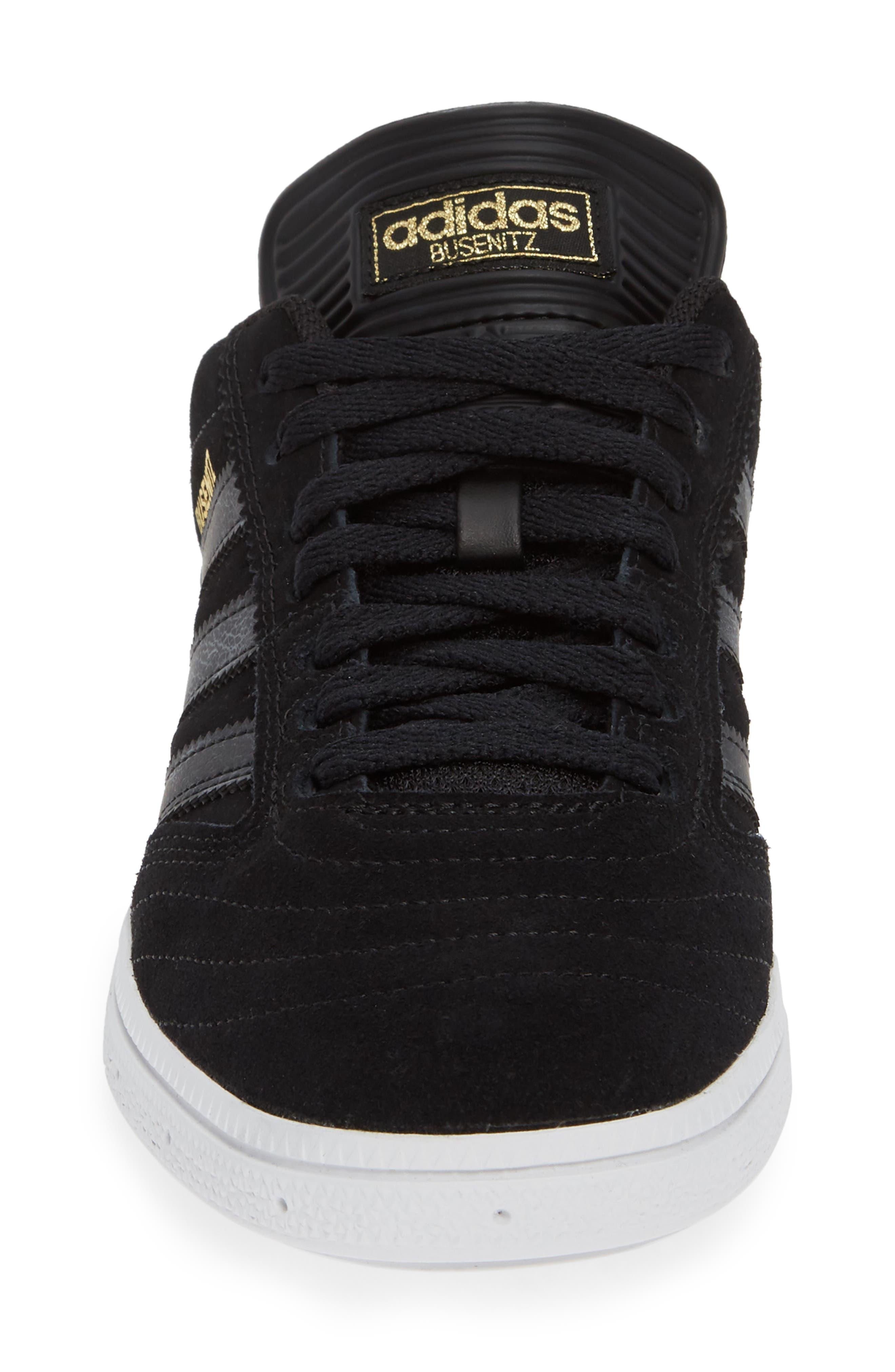 Busenitz Sneaker,                             Alternate thumbnail 4, color,                             BLACK/ BLACK/ WHITE