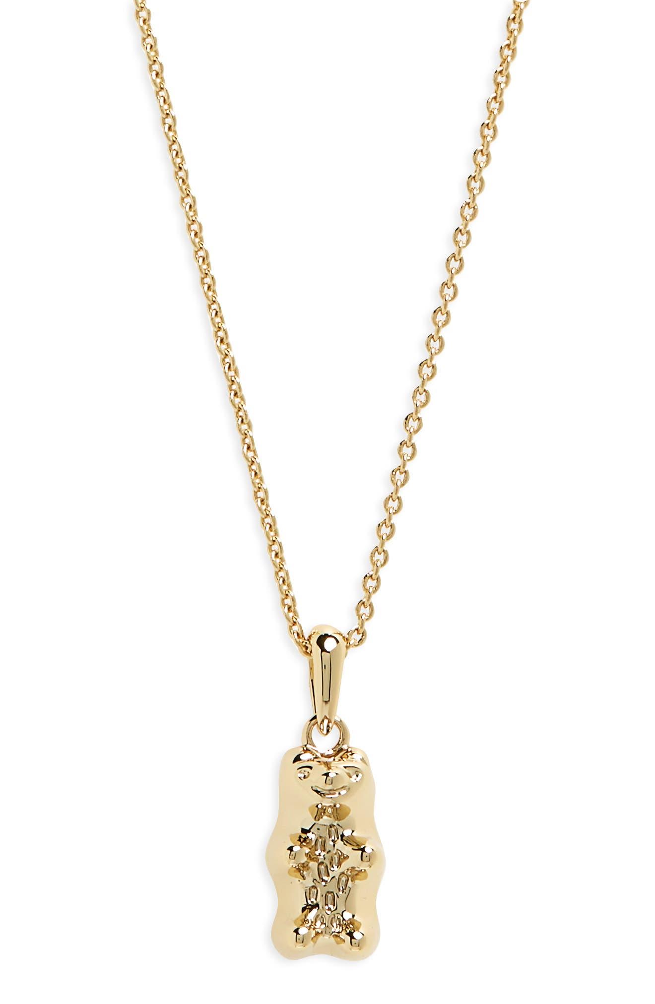 Gummy Bear Delicate Pendant Necklace,                         Main,                         color, ROSE GOLD