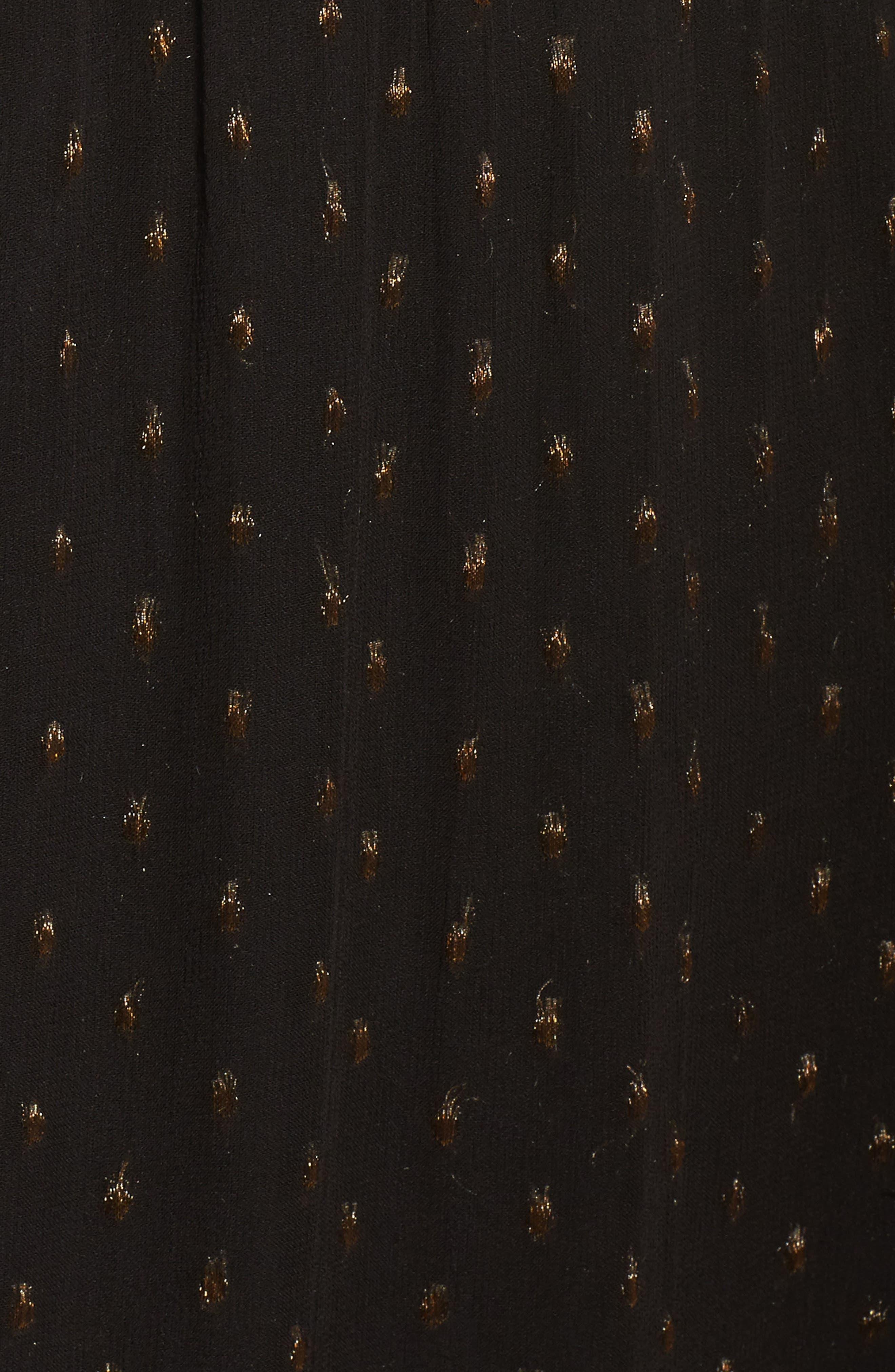 NSR,                             Lace Cold Shoulder Midi Dress,                             Alternate thumbnail 5, color,                             001
