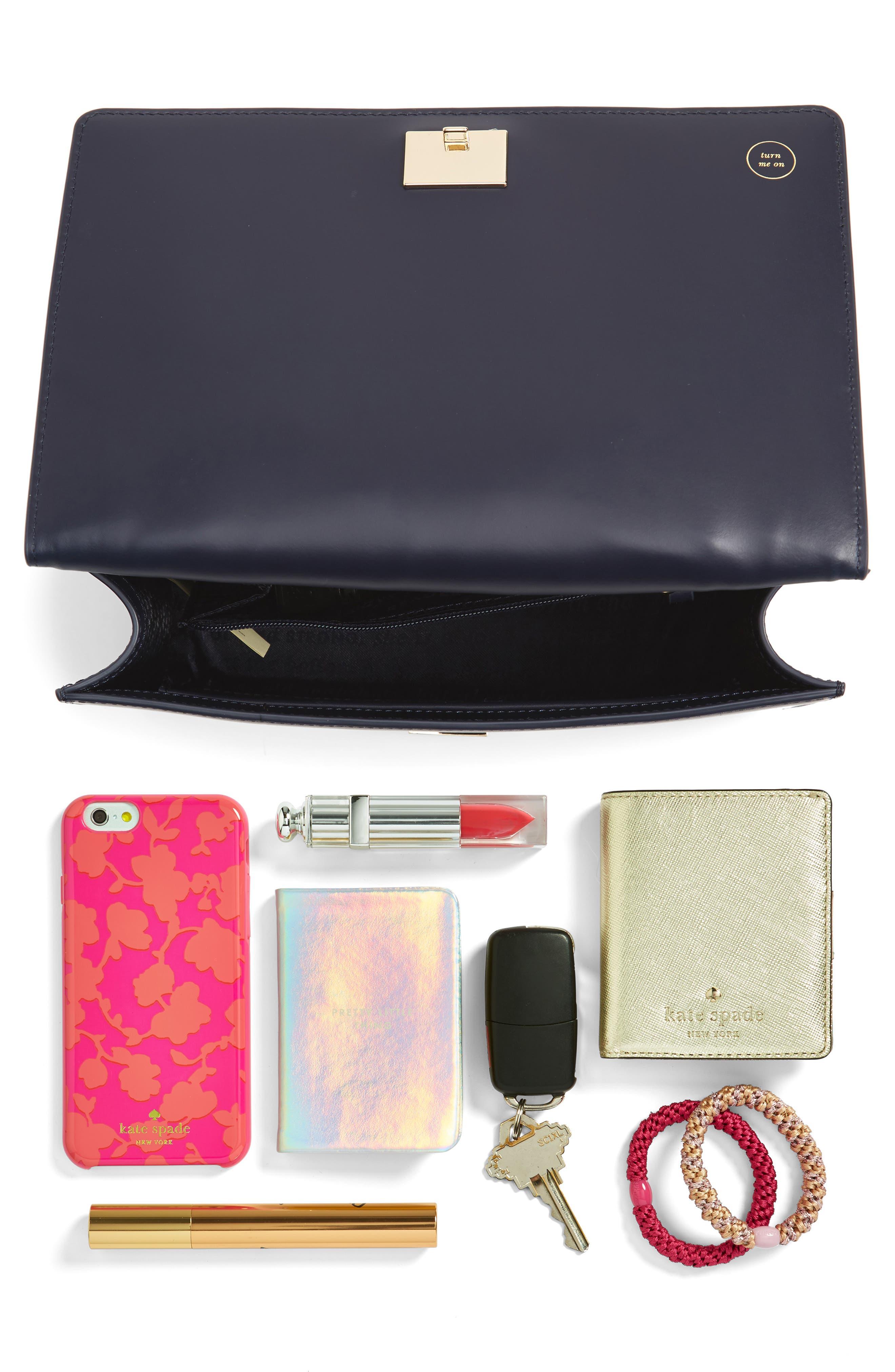 starbright marci LED light-up faux leather shoulder bag,                             Alternate thumbnail 8, color,                             400