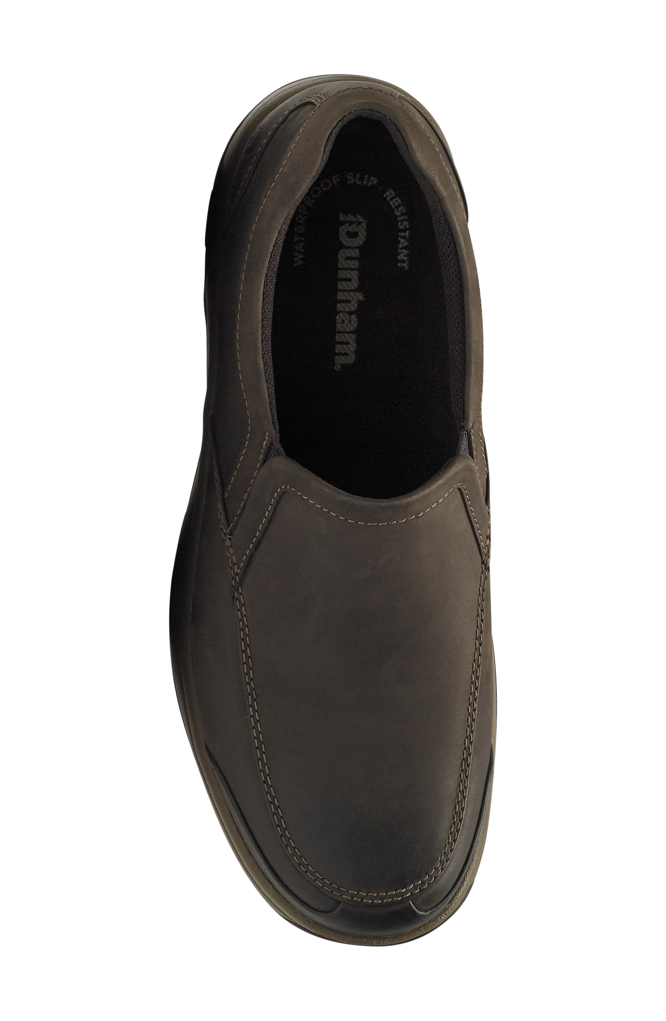Battery Park Waterproof Slip-On,                             Alternate thumbnail 5, color,                             BROWN LEATHER