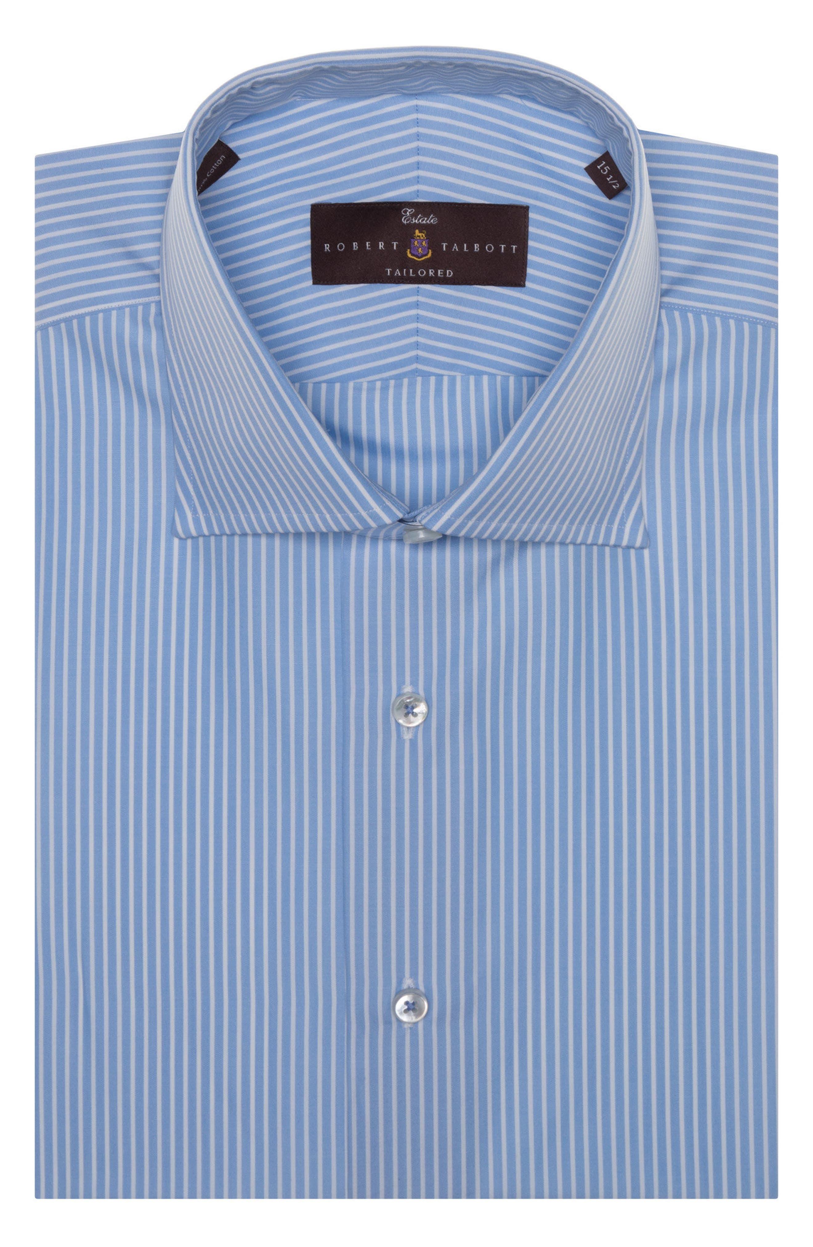 Tailored Fit Stripe Dress Shirt,                         Main,                         color, 481