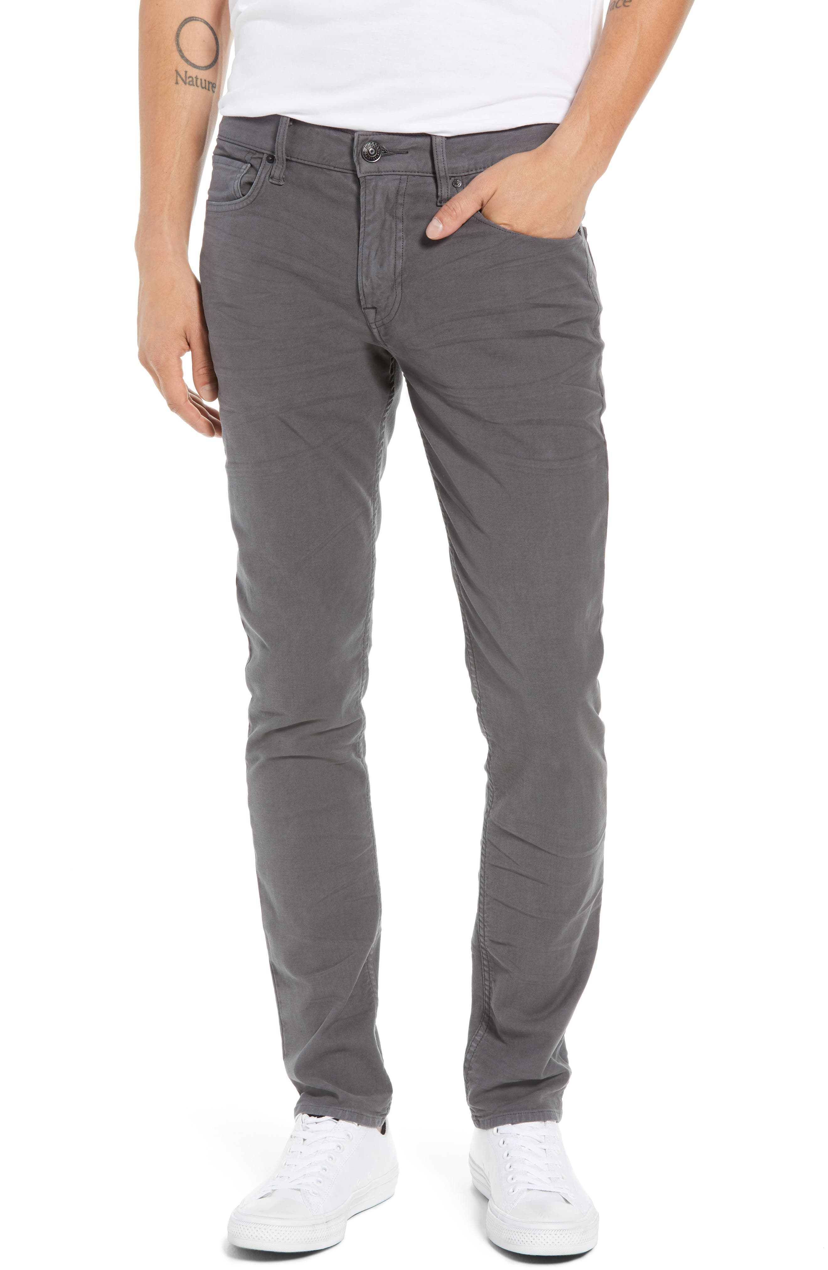 Hudson Axl Skinny Fit Jeans,                         Main,                         color, GRAPHITE