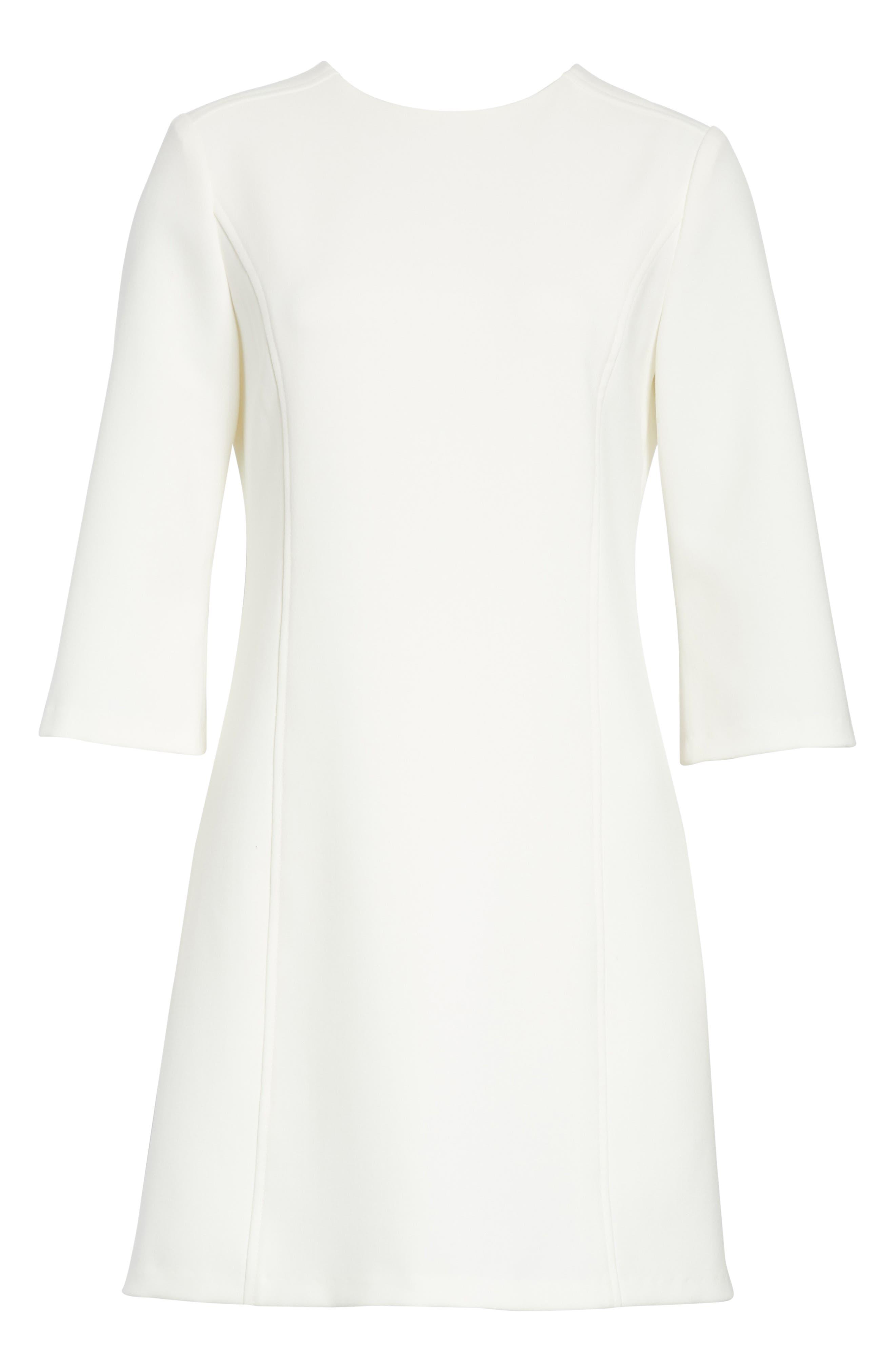 Gem Shift Dress,                             Alternate thumbnail 6, color,                             OFF WHITE