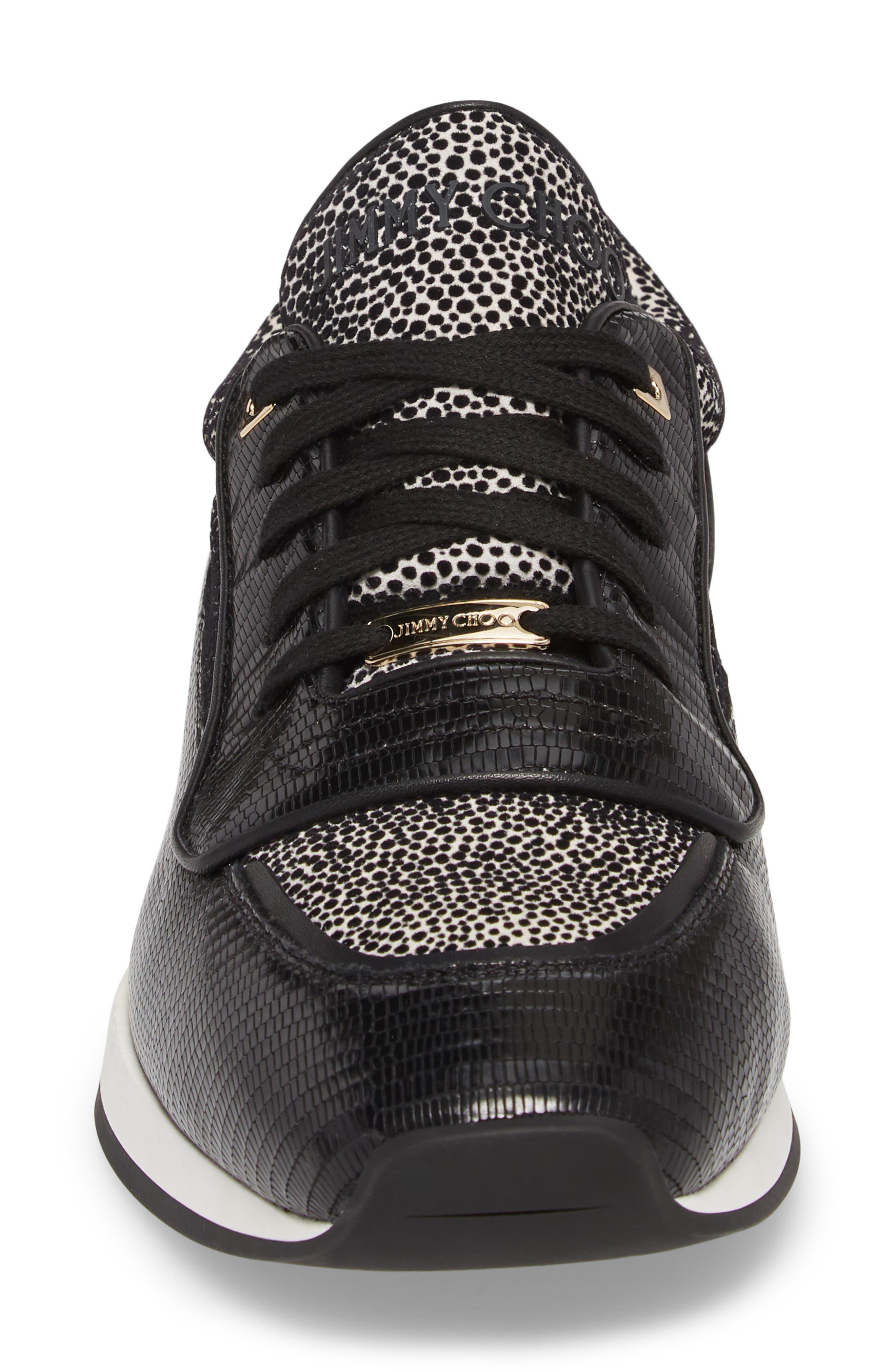 Jett Sneaker,                             Alternate thumbnail 4, color,                             BLACK/ WHITE
