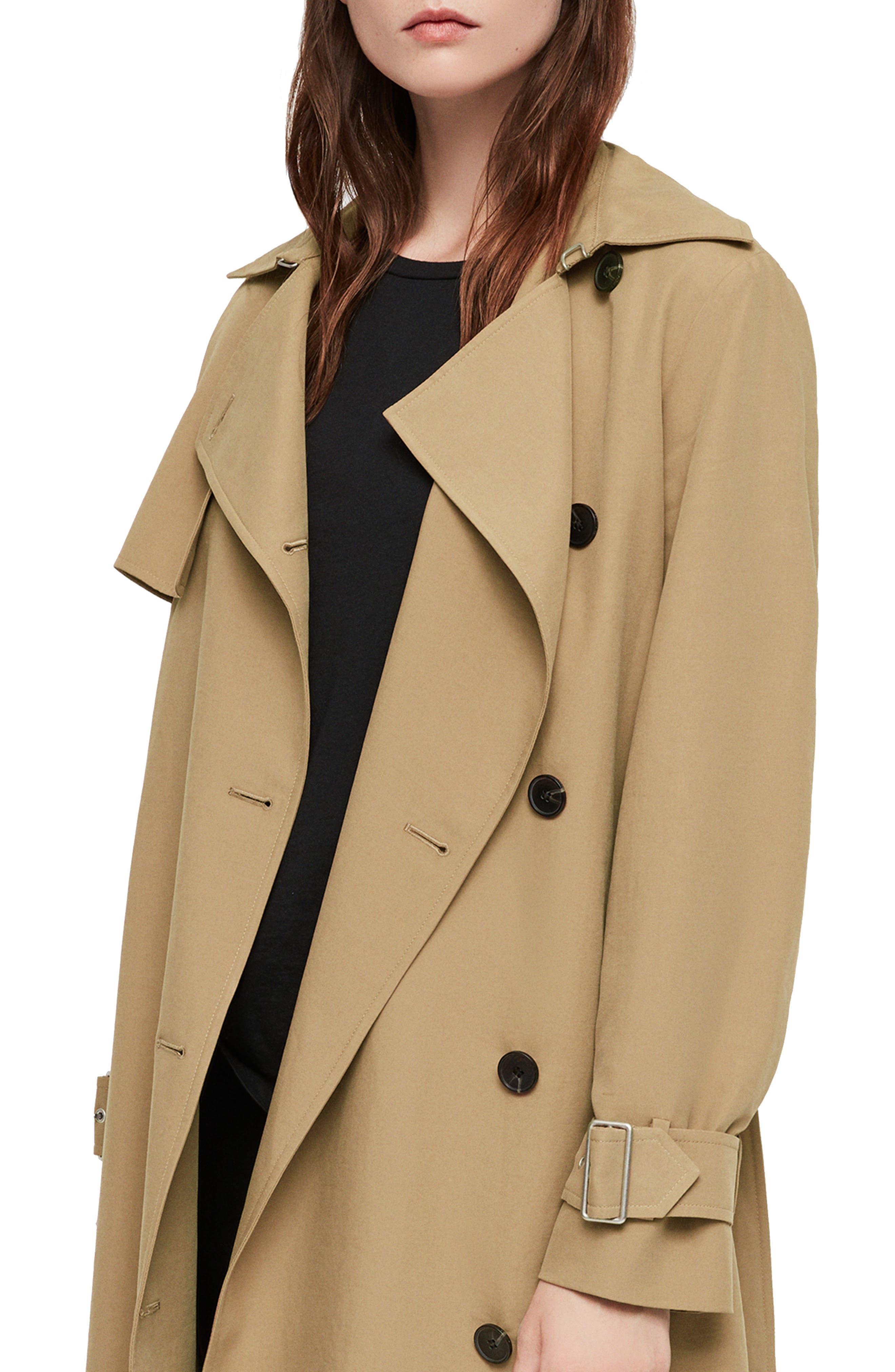 Myla Trench Coat,                             Alternate thumbnail 4, color,                             200