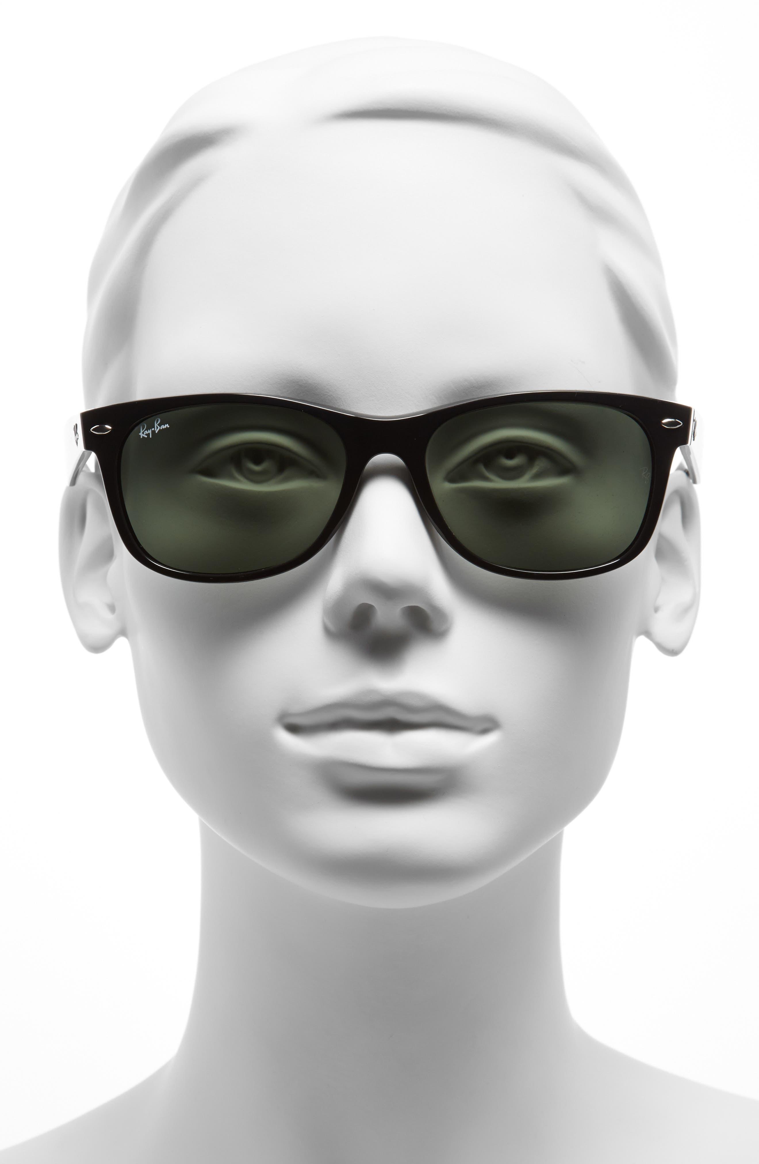 Standard New Wayfarer 55mm Sunglasses,                             Alternate thumbnail 2, color,                             BLACK