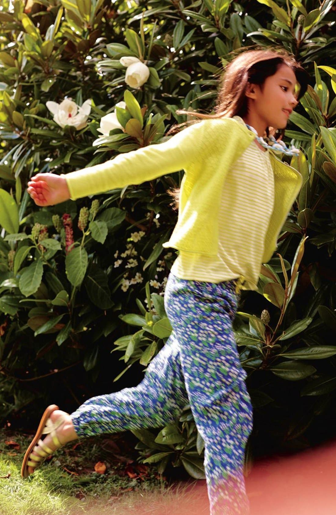 'Pretty' Floral Print Pants,                             Alternate thumbnail 3, color,                             404