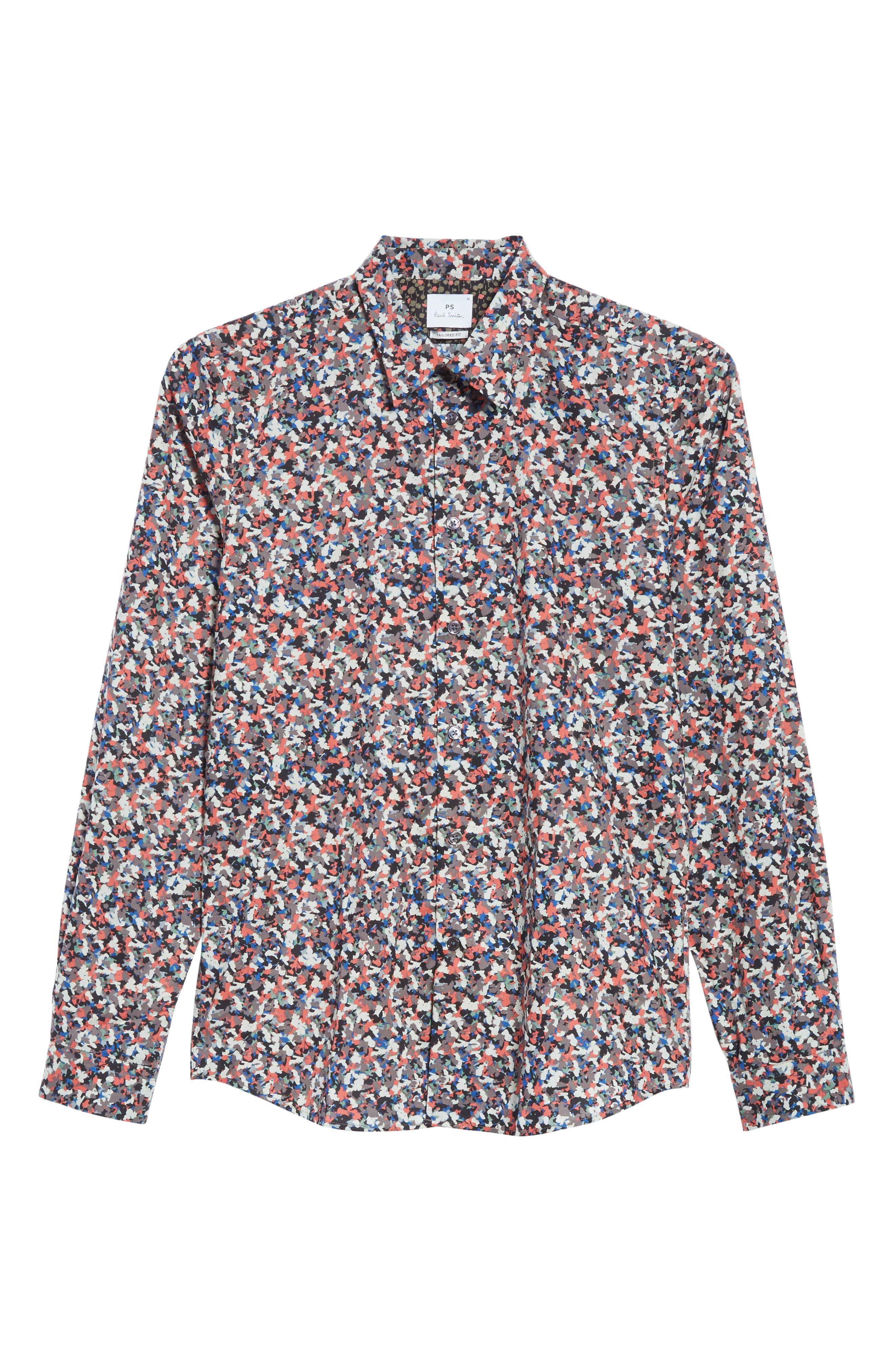 Tailored Print Shirt,                             Alternate thumbnail 6, color,                             813