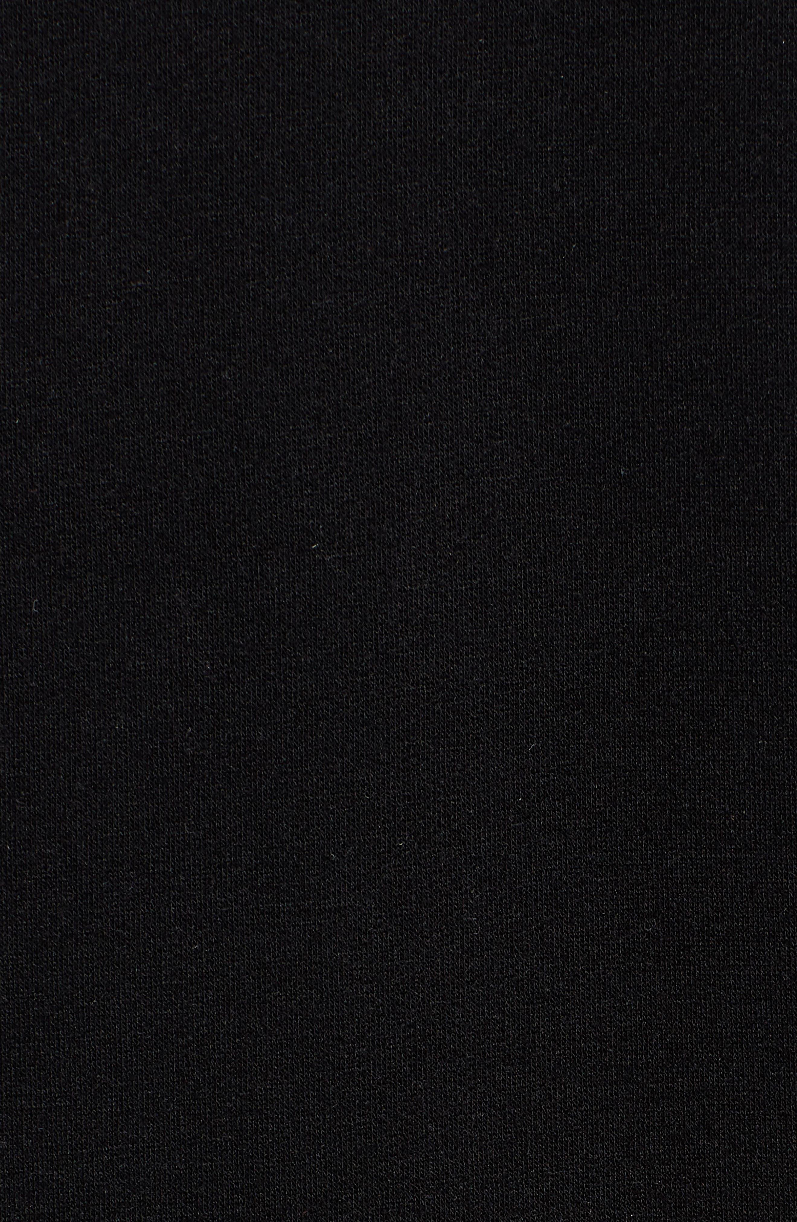 Off-Duty Fleece Knit Cardigan,                             Alternate thumbnail 5, color,                             001