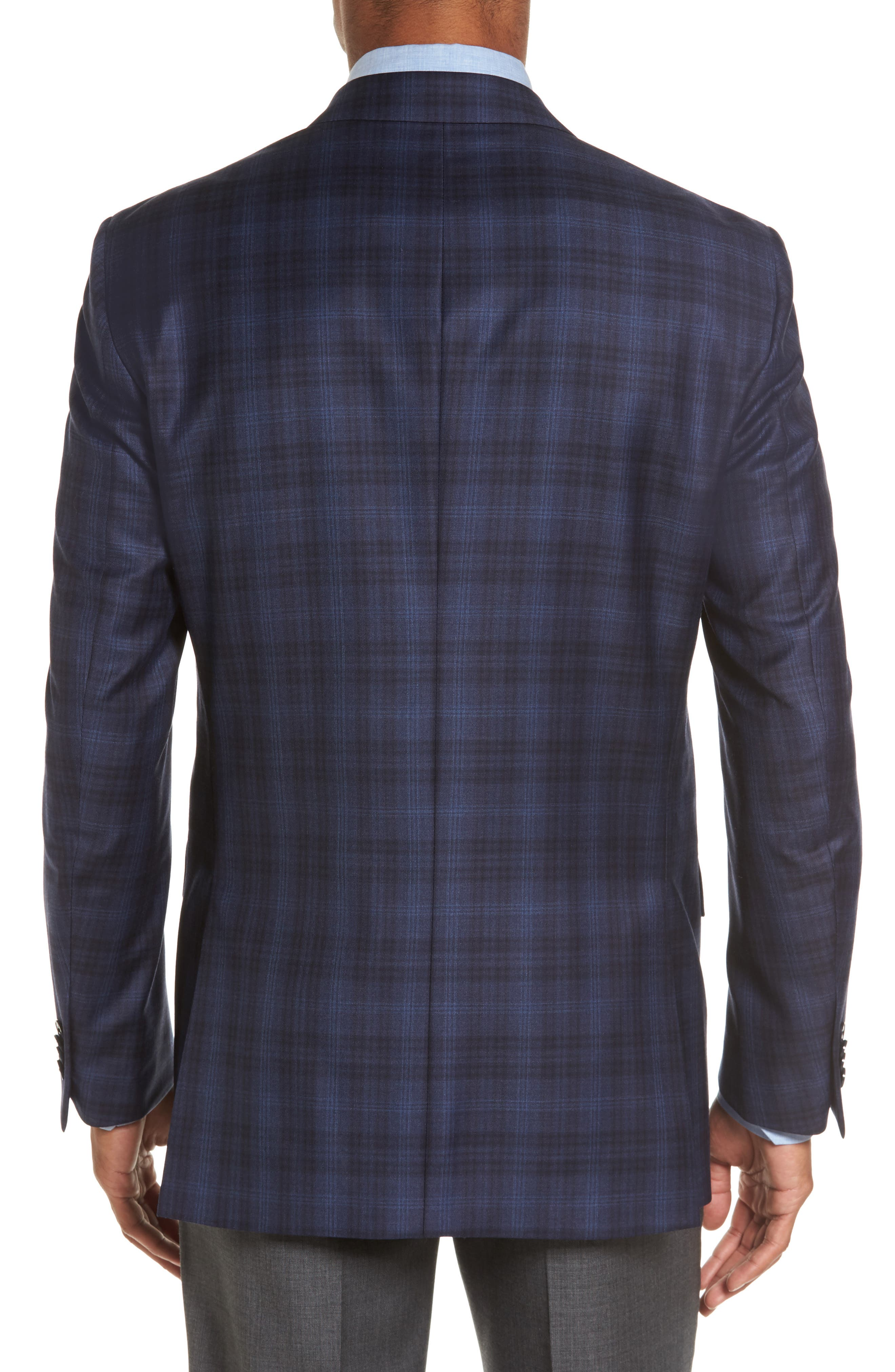 Flynn Classic Fit Plaid Wool Sport Coat,                             Alternate thumbnail 2, color,