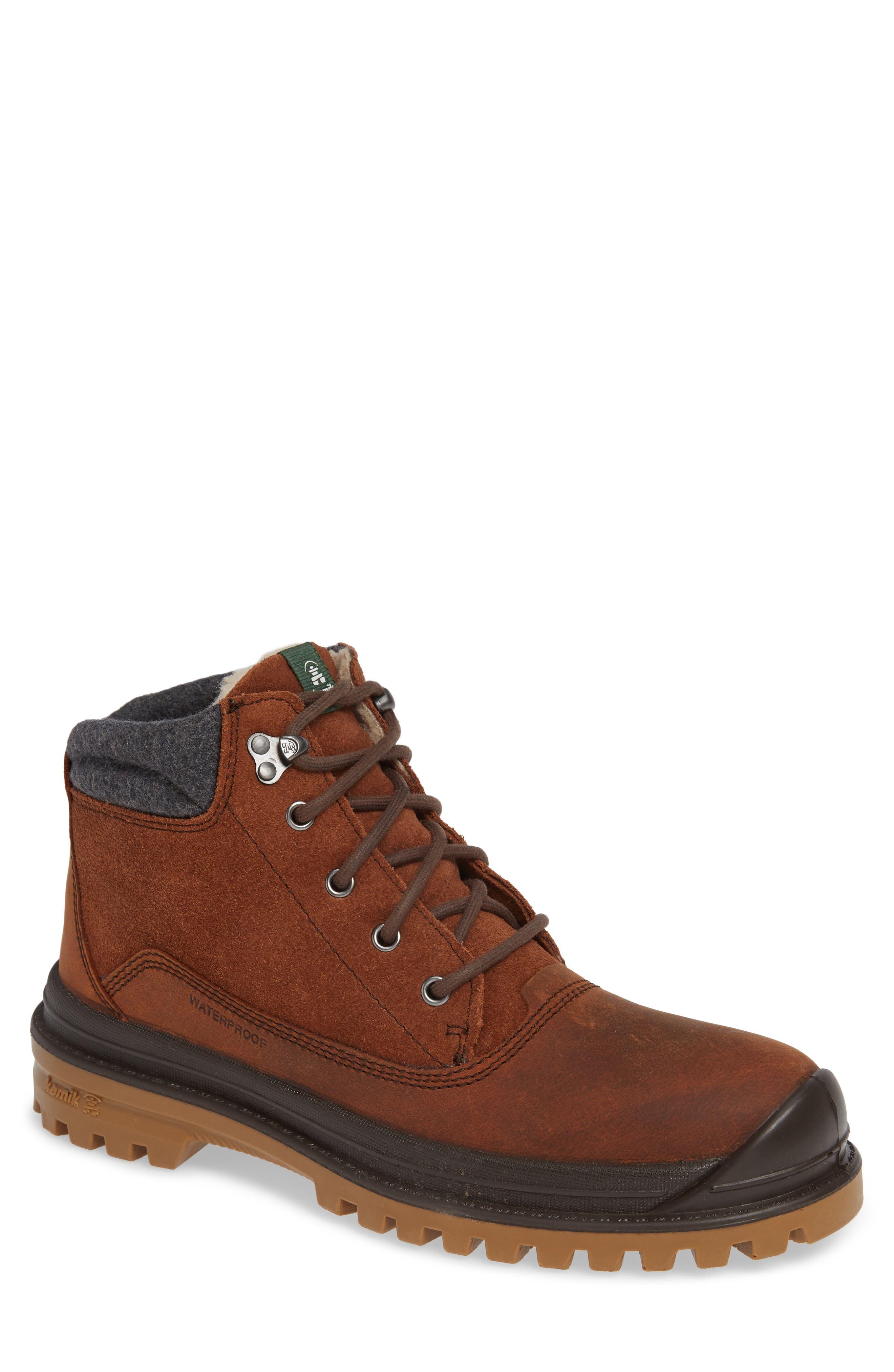 Kamik Griffin Mid Waterproof Boot, Brown
