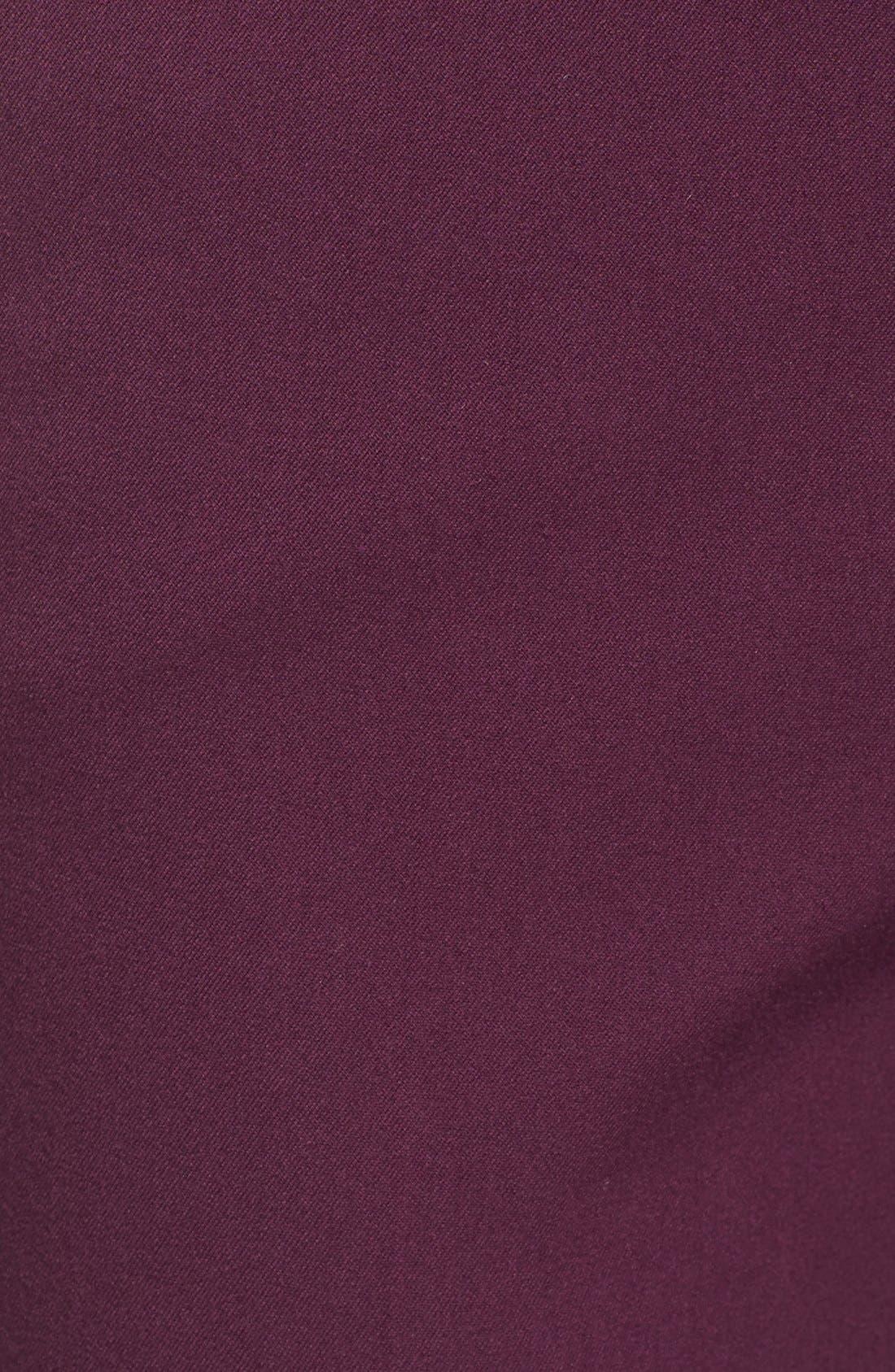 Crop Stretch Cotton Pants,                             Alternate thumbnail 102, color,