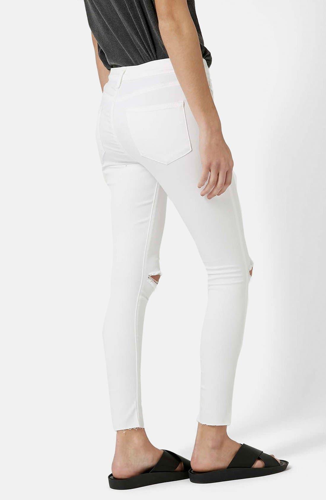 'Leigh' Moto Jeans,                             Alternate thumbnail 4, color,