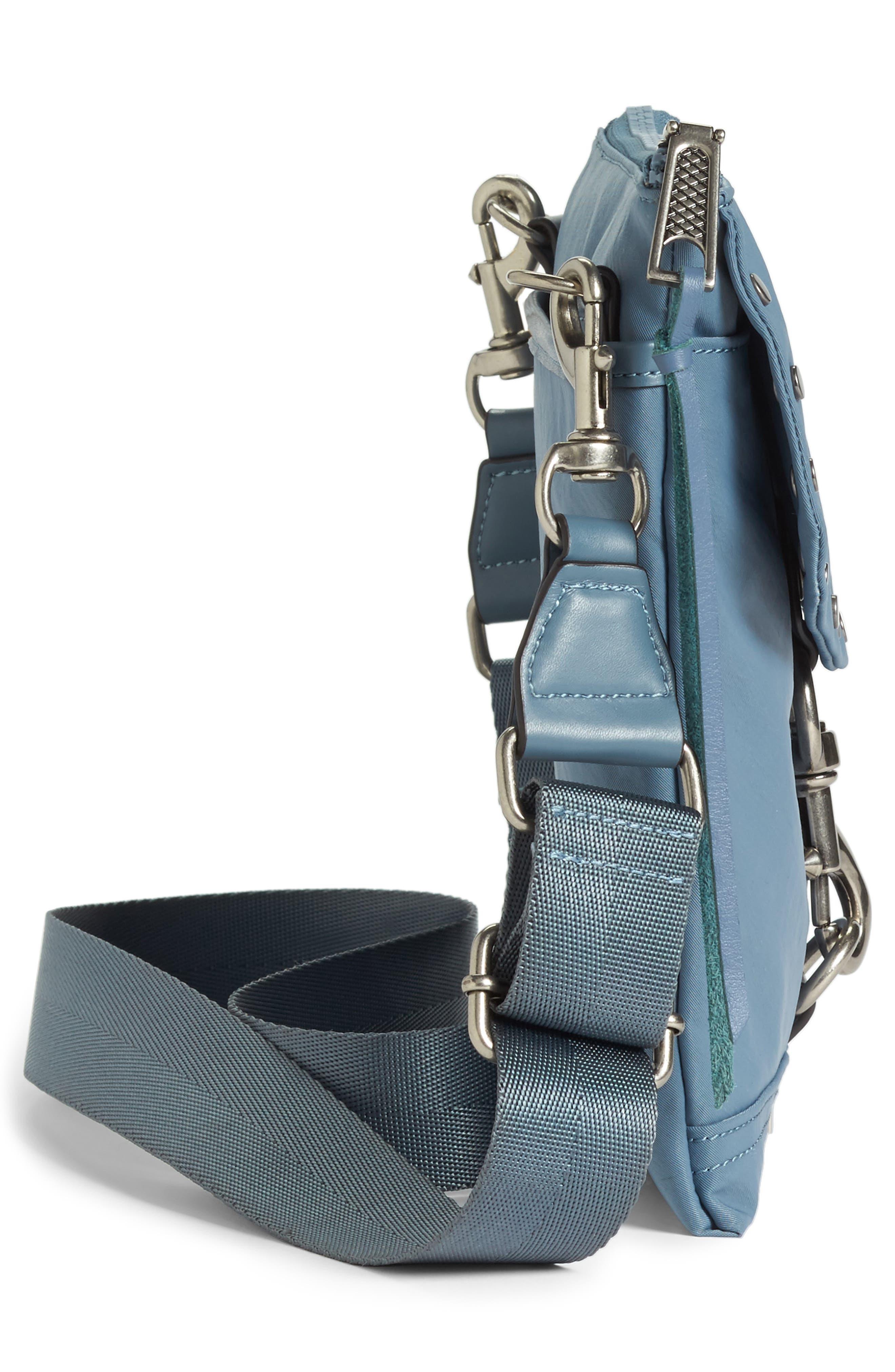 Nylon Flap Crossbody Bag,                             Alternate thumbnail 28, color,