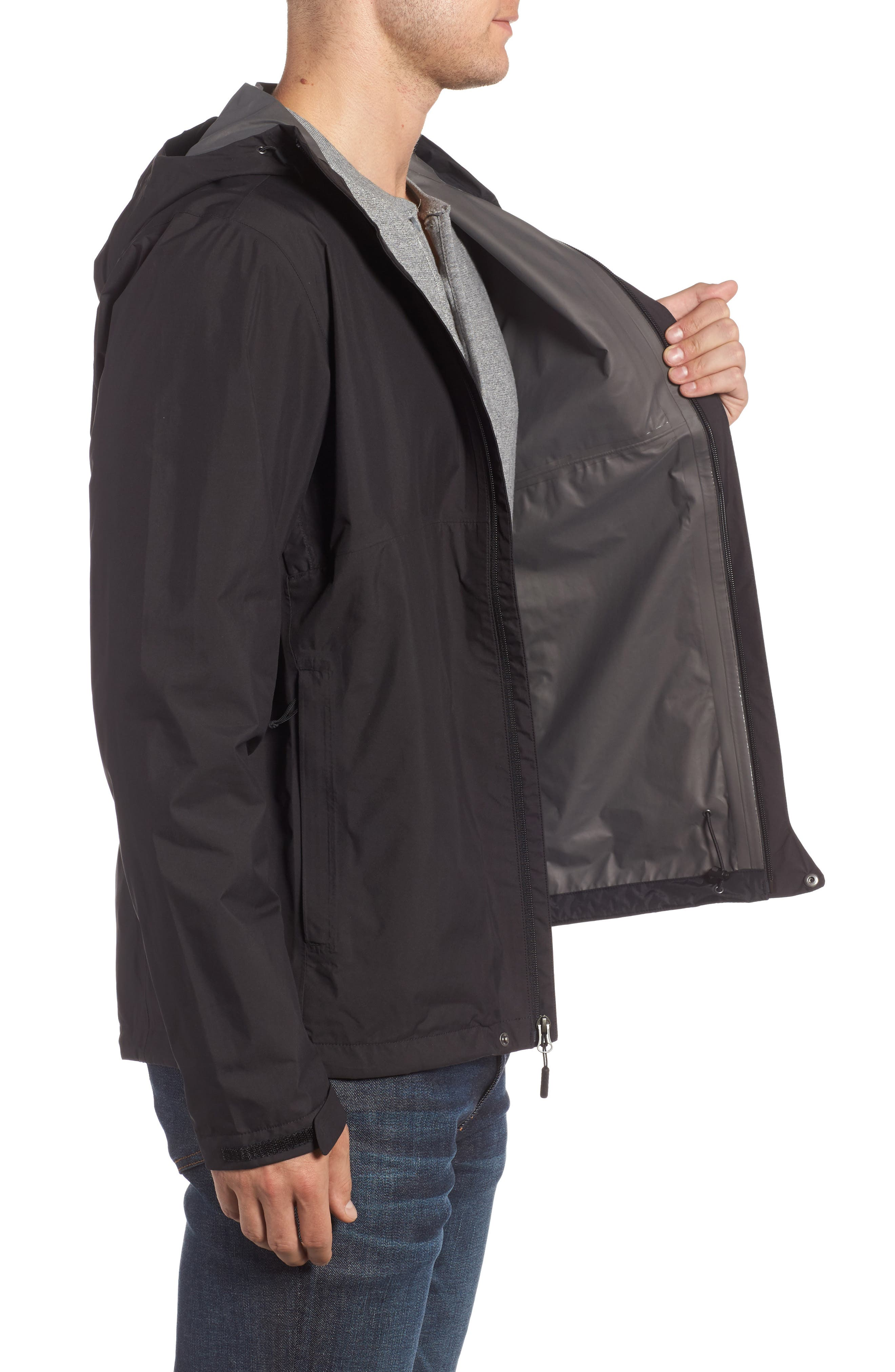 Dryzzle Gore-Tex<sup>®</sup> PacLite Hooded Jacket,                             Alternate thumbnail 3, color,                             001