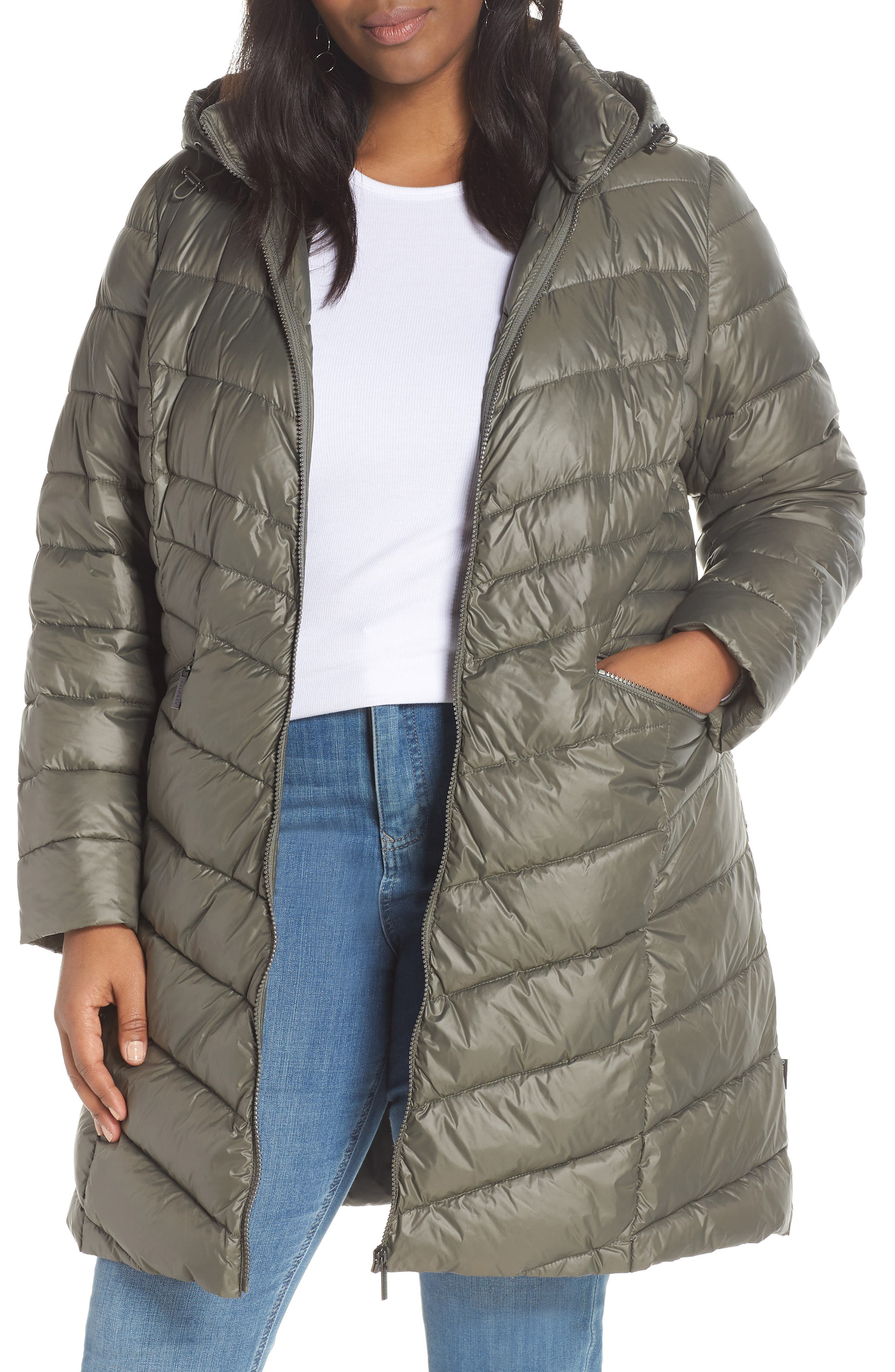 HALOGEN<SUP>®</SUP>,                             Hooded Puffer Jacket,                             Main thumbnail 1, color,                             030
