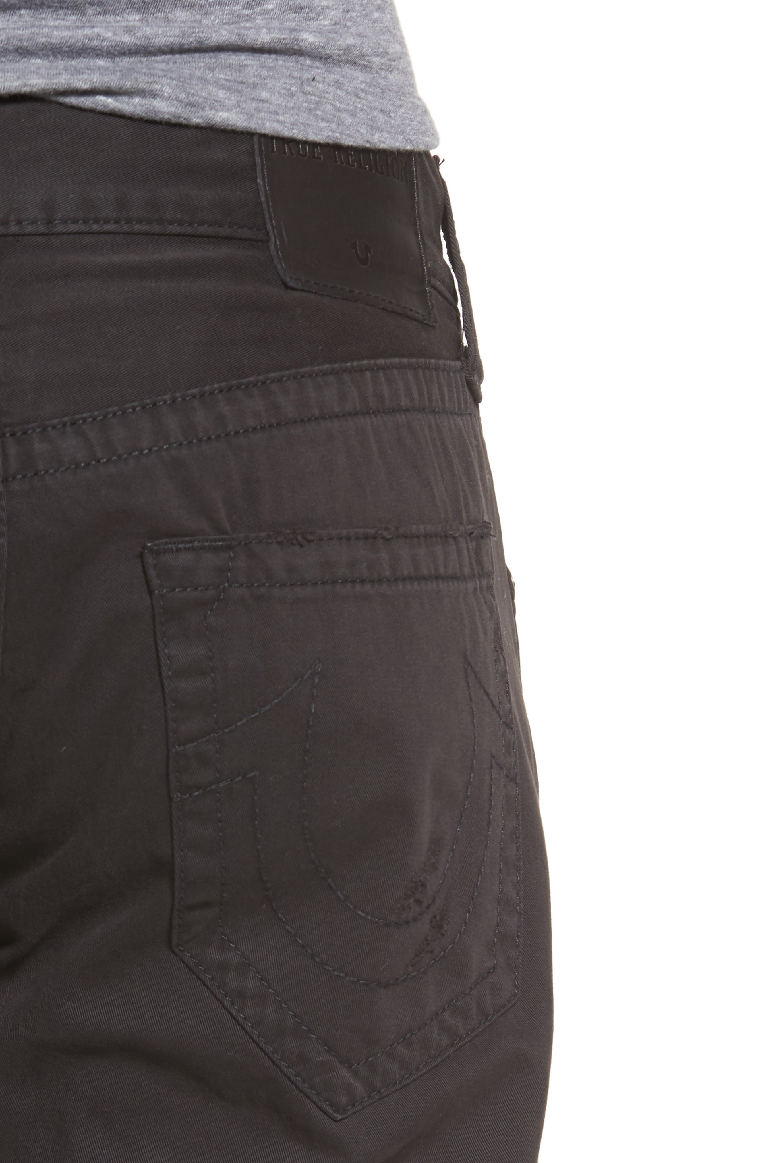 Geno Straight Fit Jeans,                             Alternate thumbnail 4, color,                             BLACK