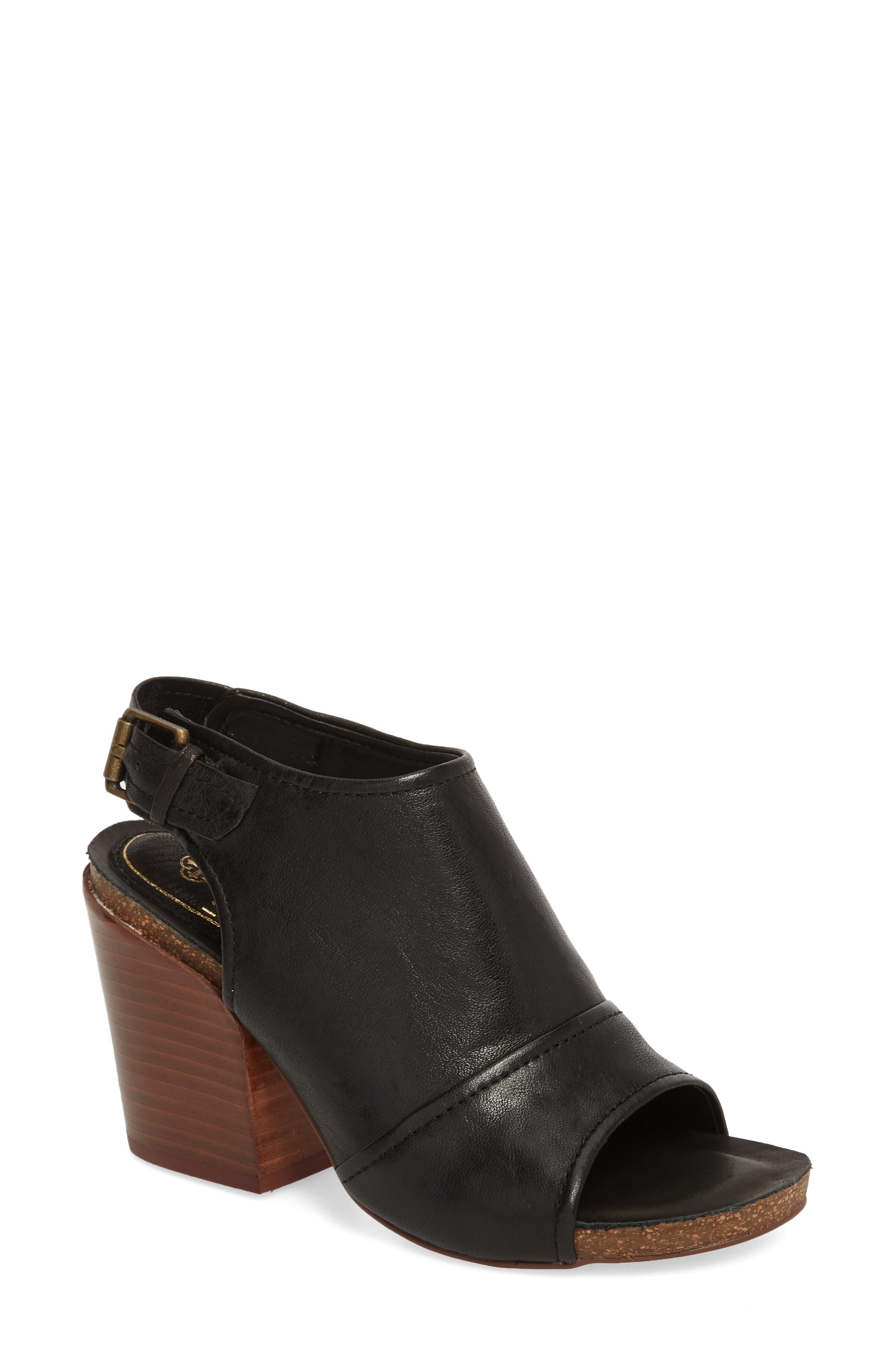 Isanti Slingback Sandal, Main, color, BLACK LEATHER