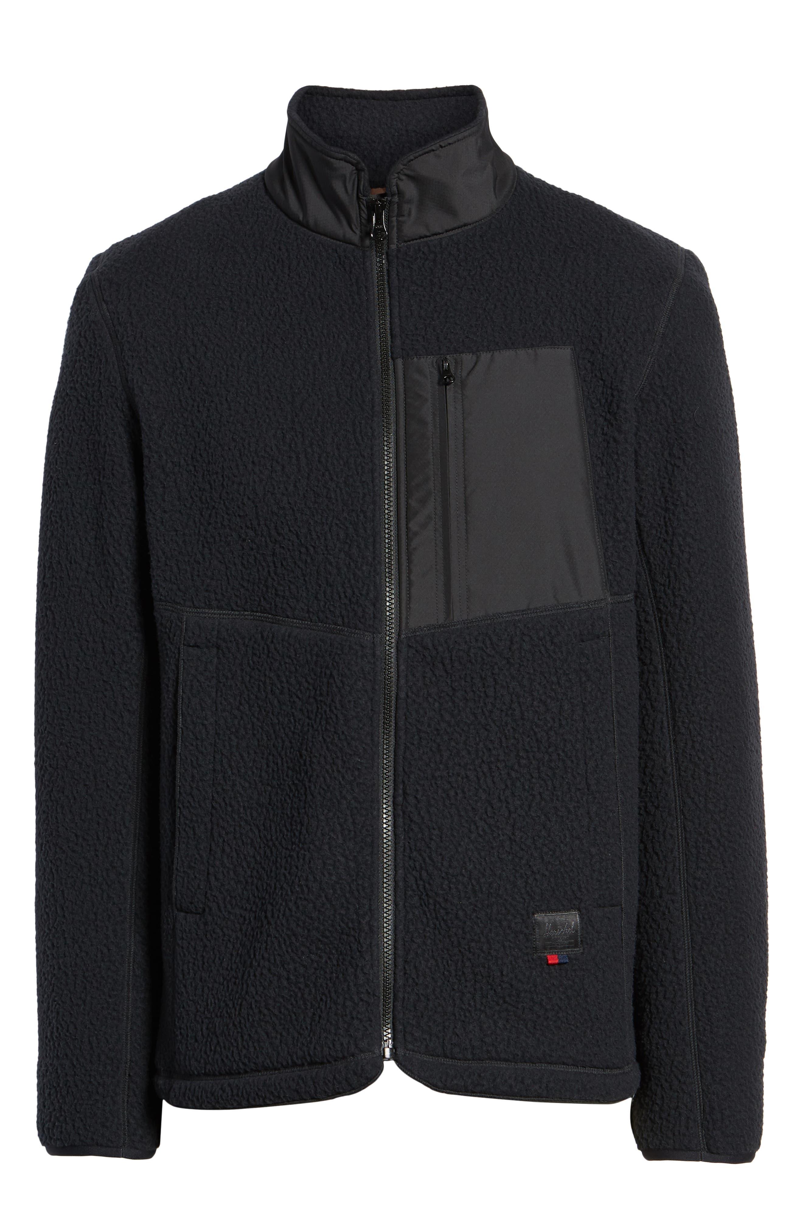 HERSCHEL SUPPLY CO.,                             Tech Fleece Jacket,                             Alternate thumbnail 6, color,                             001