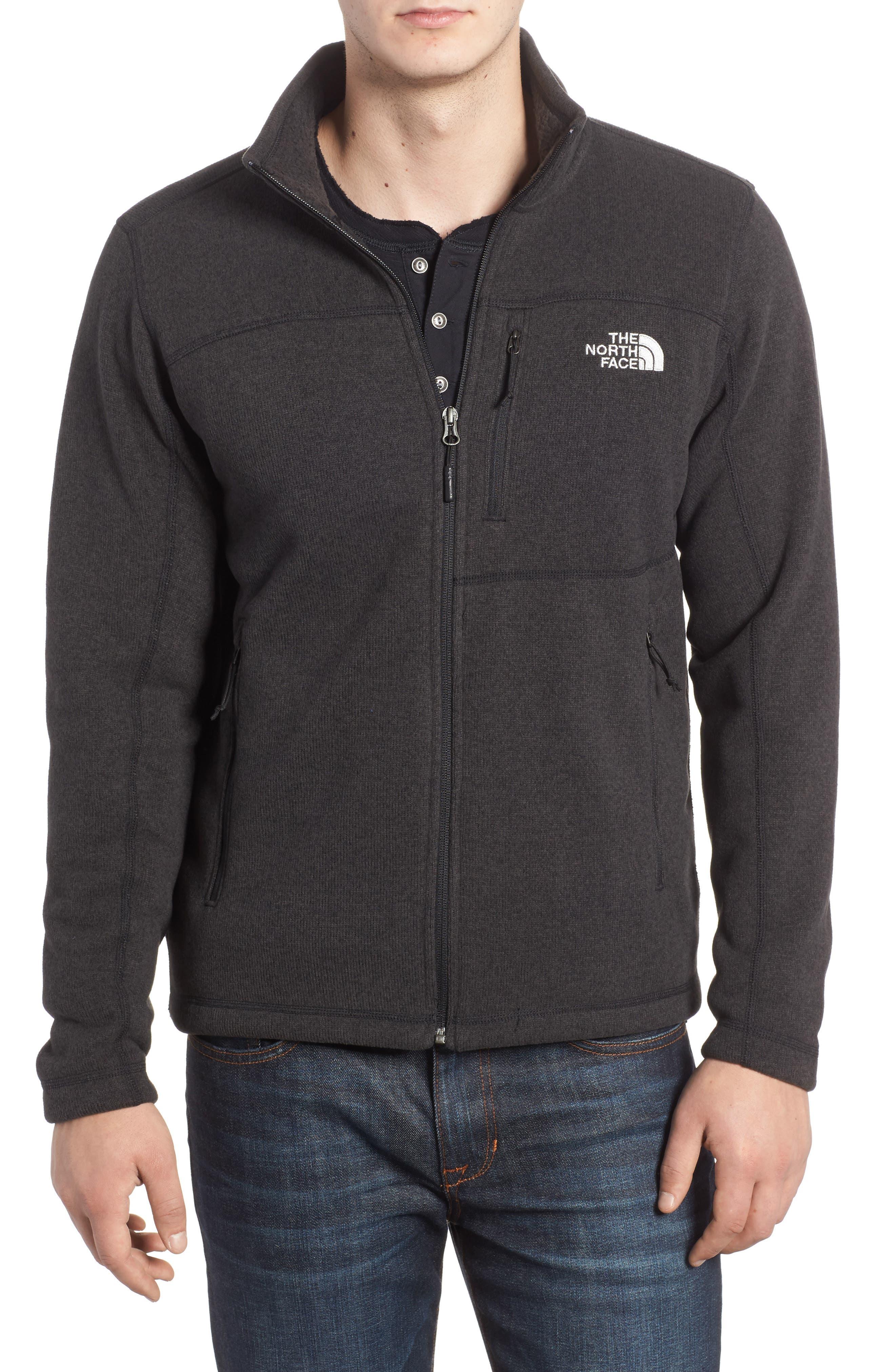 'Gordon Lyons' Zip Fleece Jacket,                             Main thumbnail 1, color,                             BLACK HEATHER