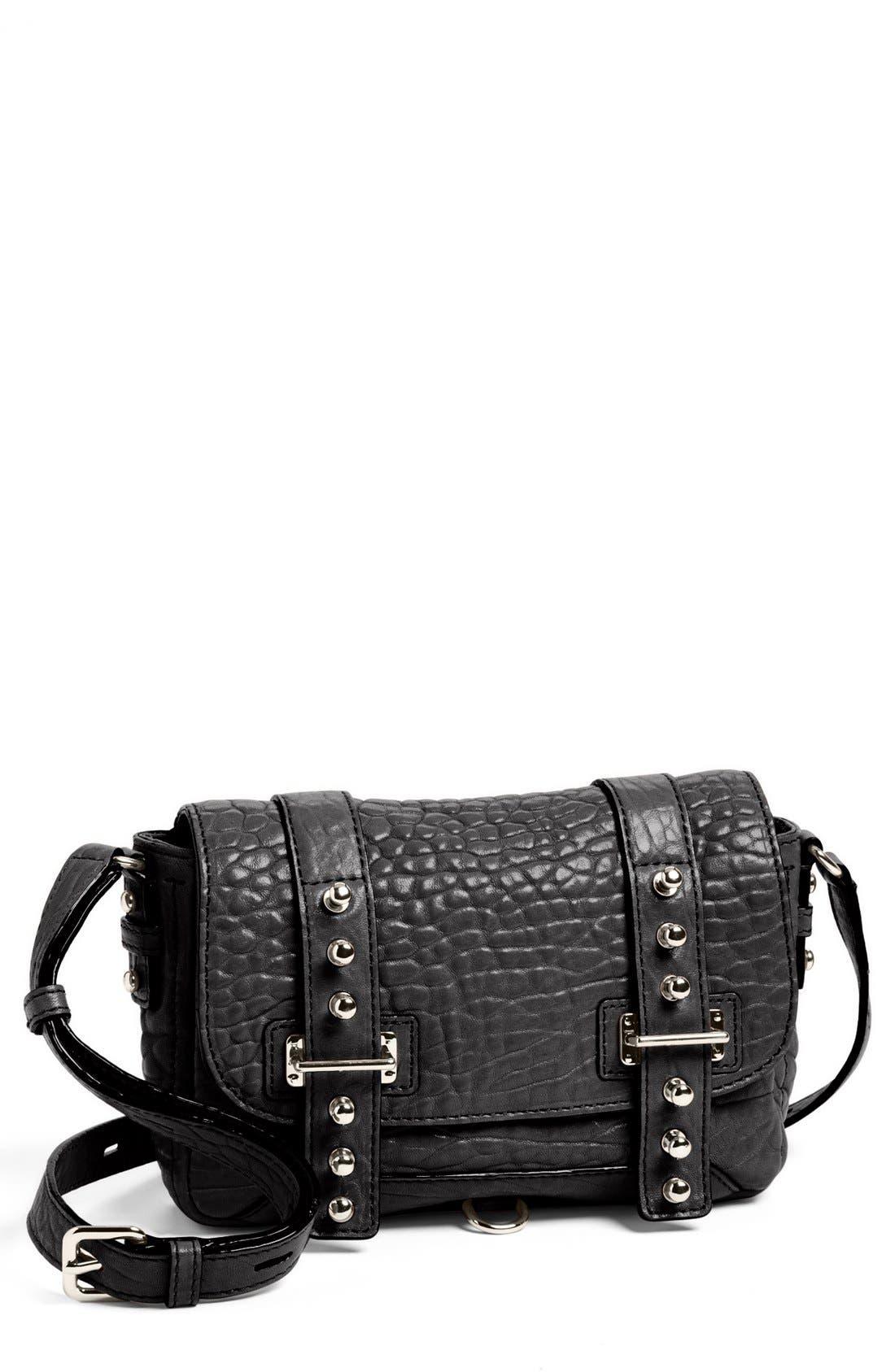 REBECCA MINKOFF 'Wilson' Leather Crossbody Bag, Small, Main, color, 001